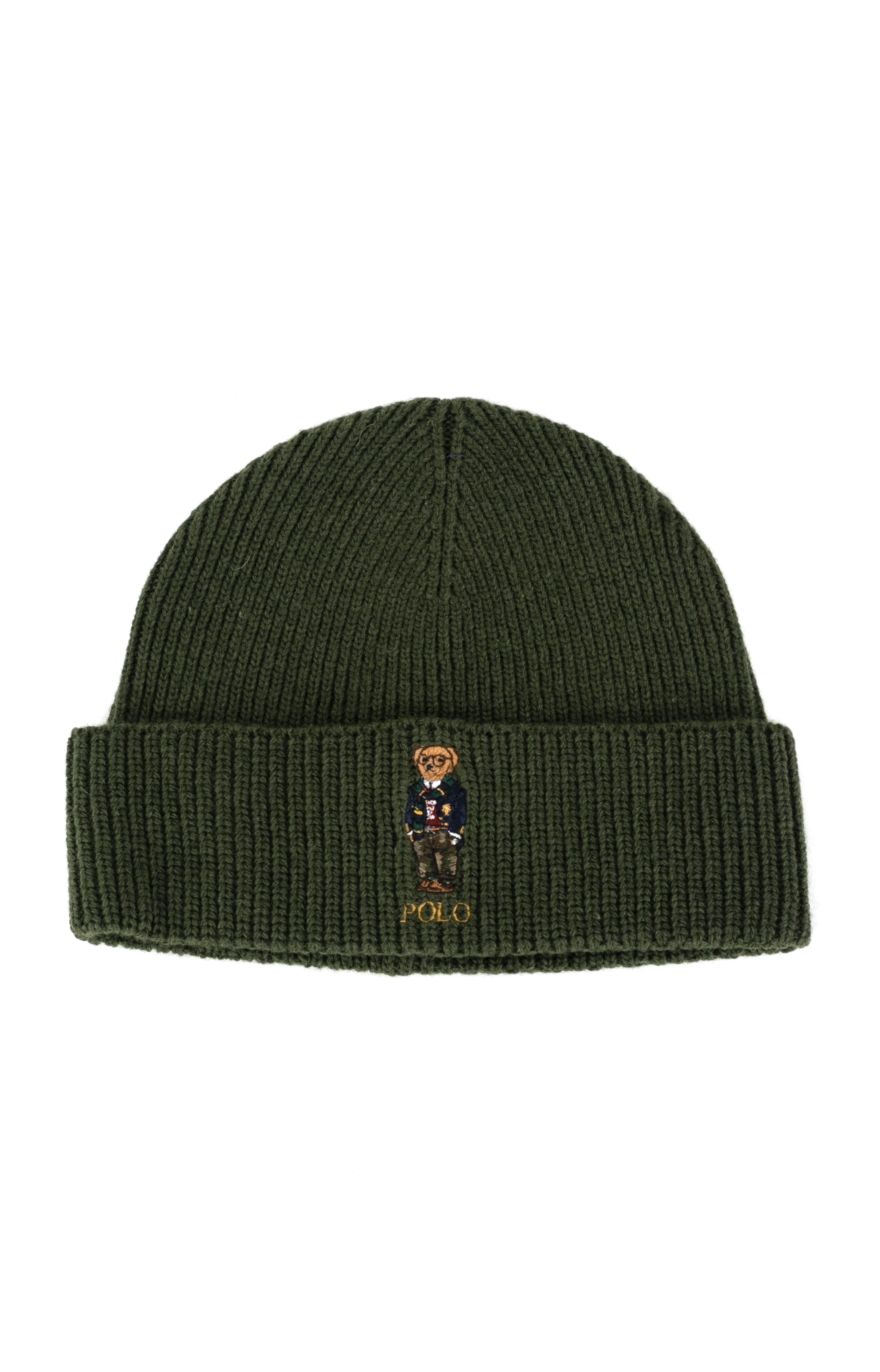 Solid Collegiate Bear Hat - Ancient Green  1
