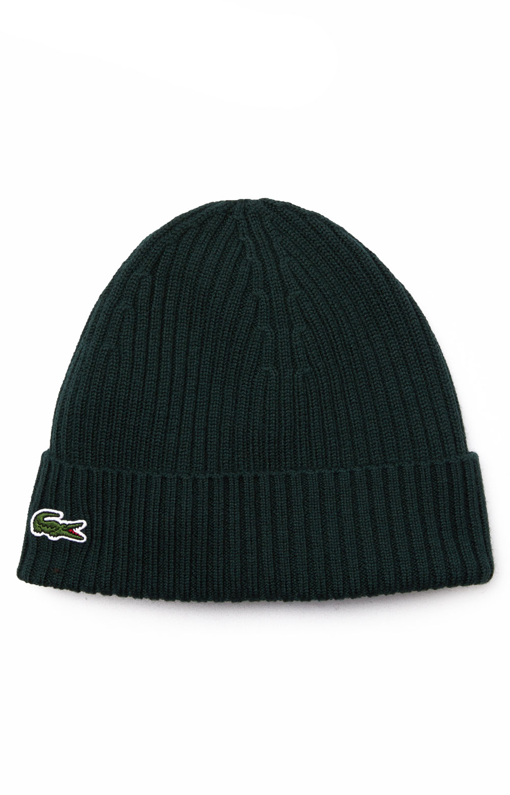 Ribbed Wool Beanie - Green