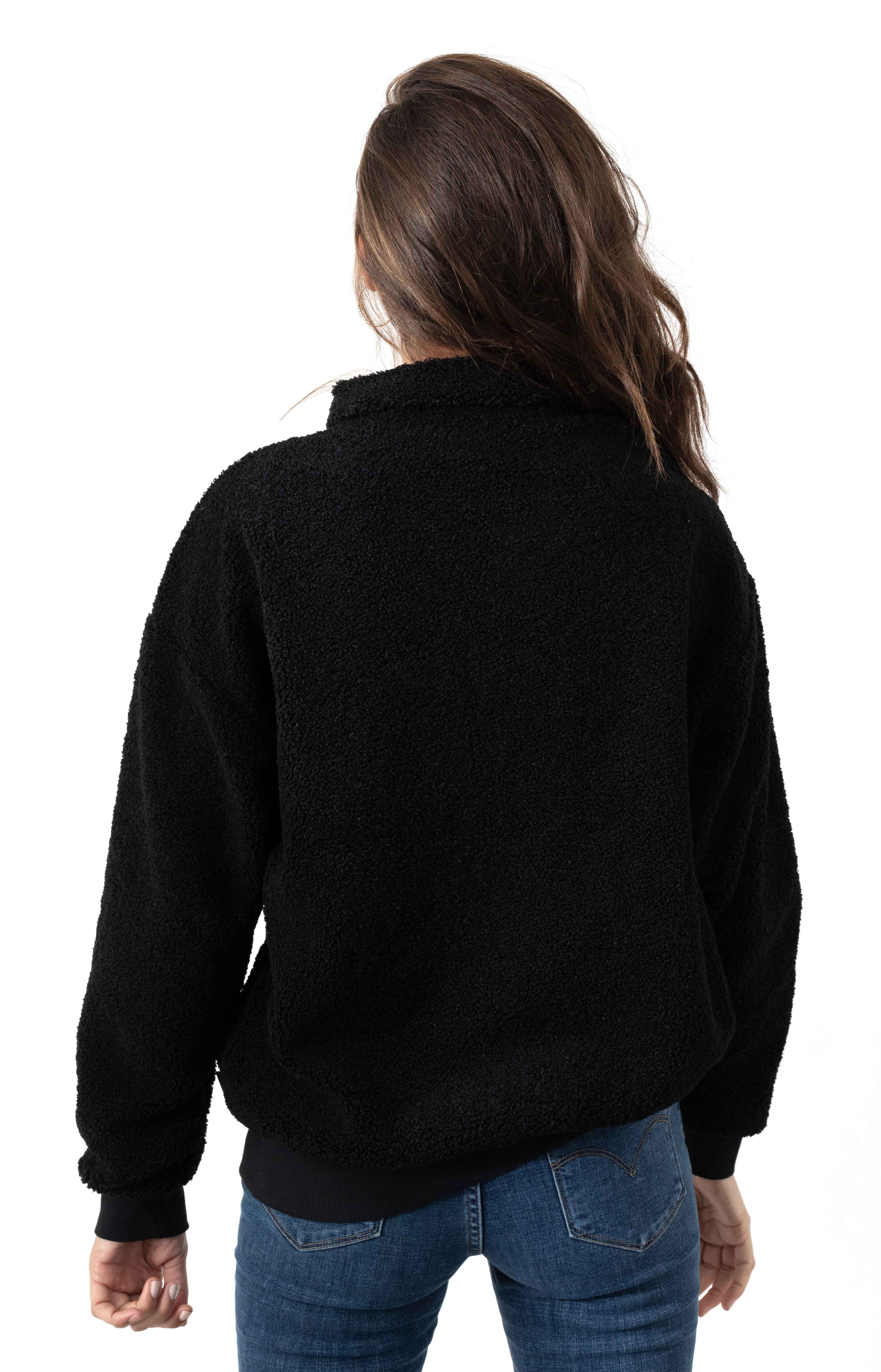 66 Supply Zip Sherpa Jacket - Black  3
