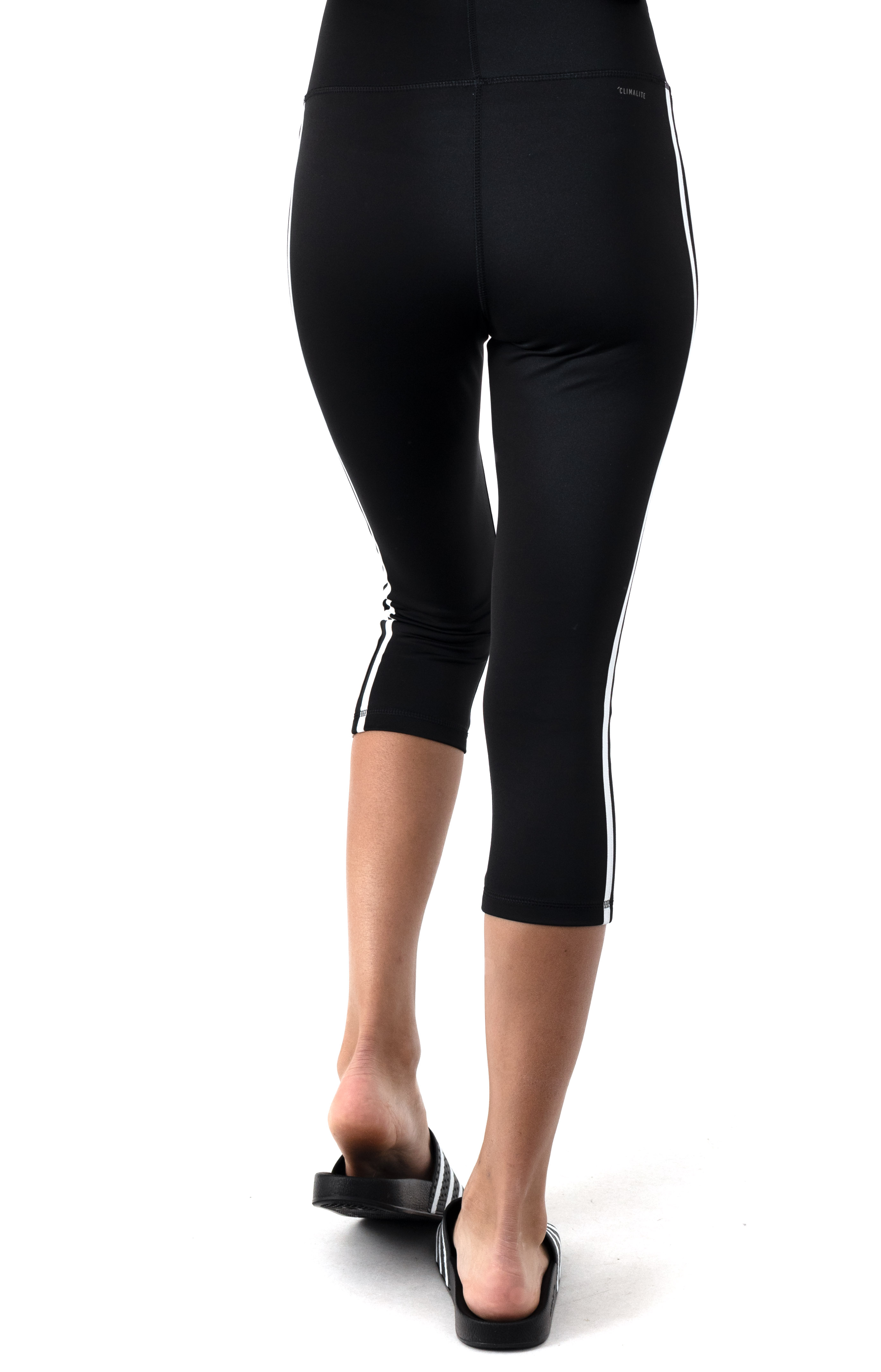 Design 2 Move 3 Stripes 3/4 Tights - Black/White  3
