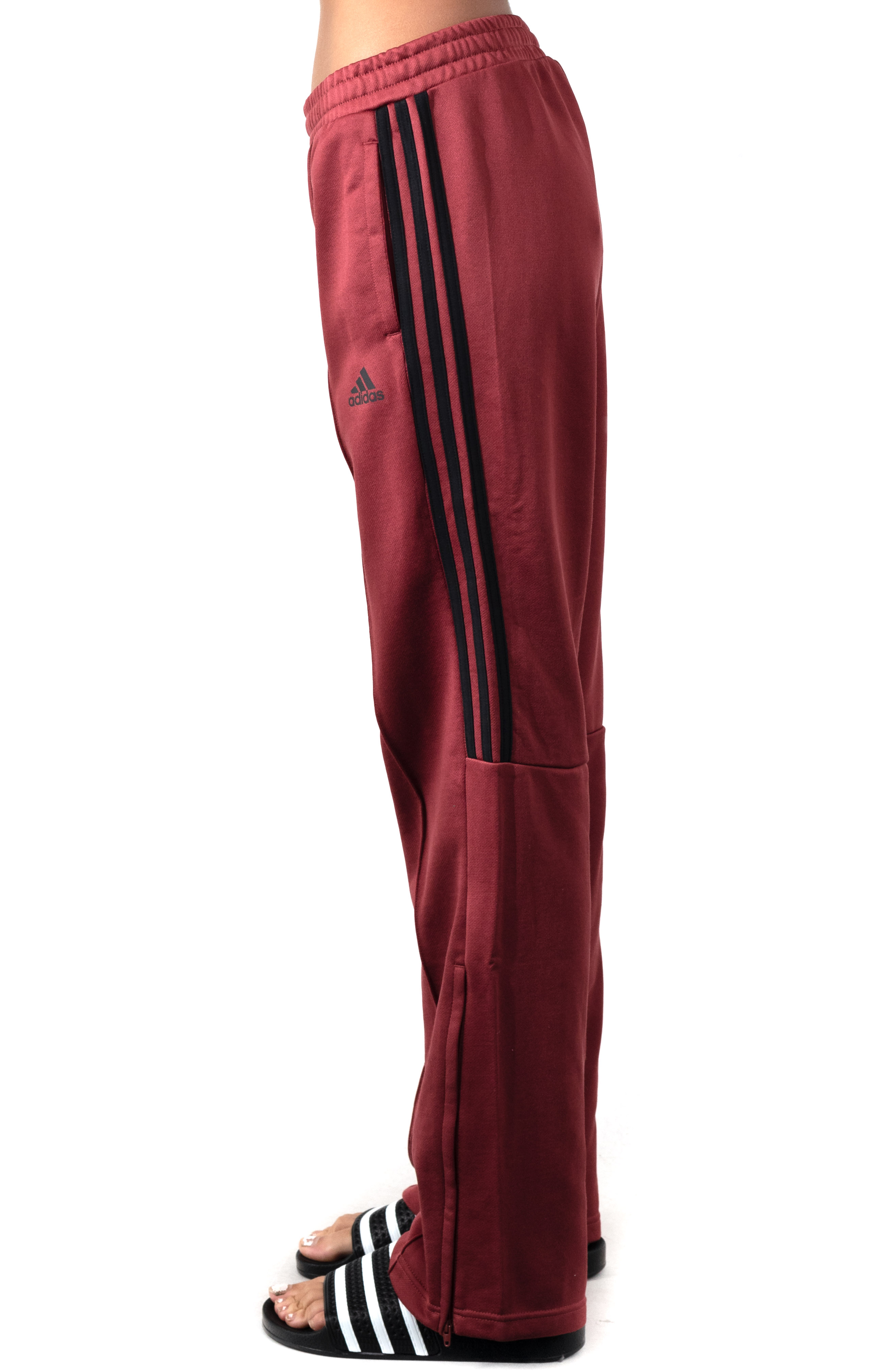 (GD9030) New Authentic Wide Leg Pants - Legacy Red 2