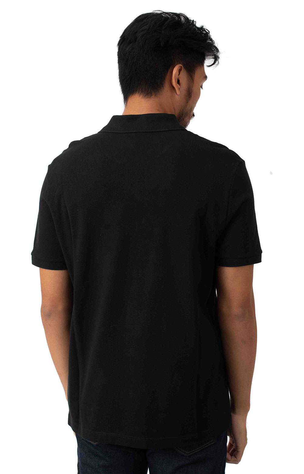 Regular Fit Solid Cotton Piqué Polo With Badge - Black  3