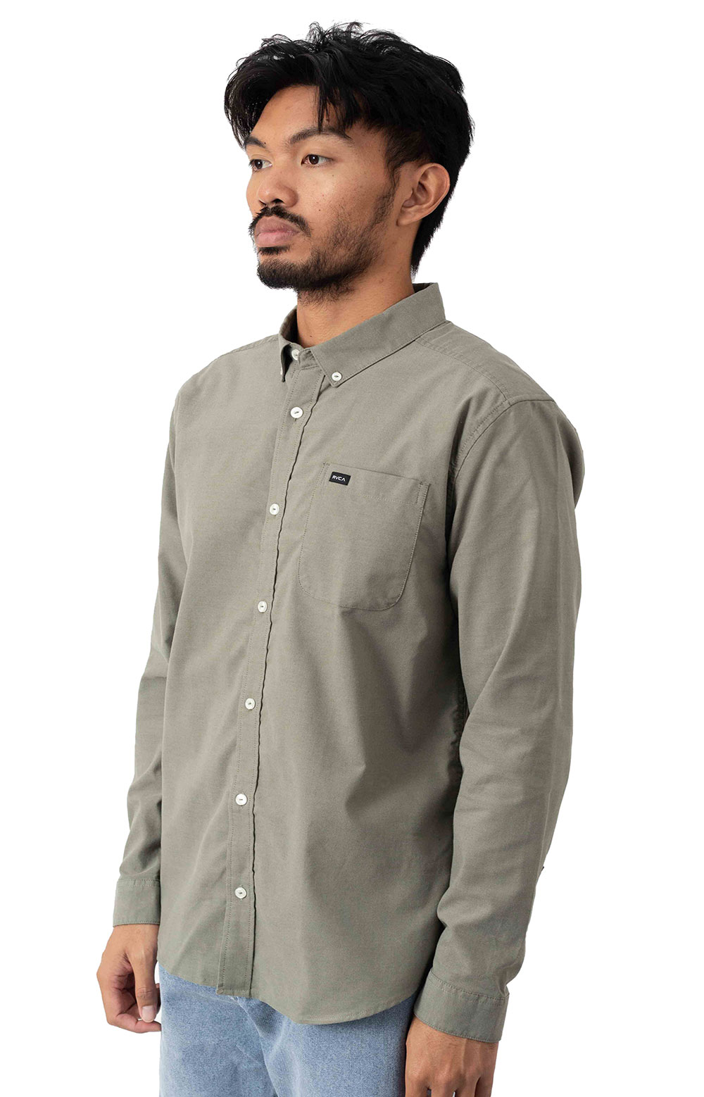That'll Do Stretch Button-Up Shirt - Aloe 2