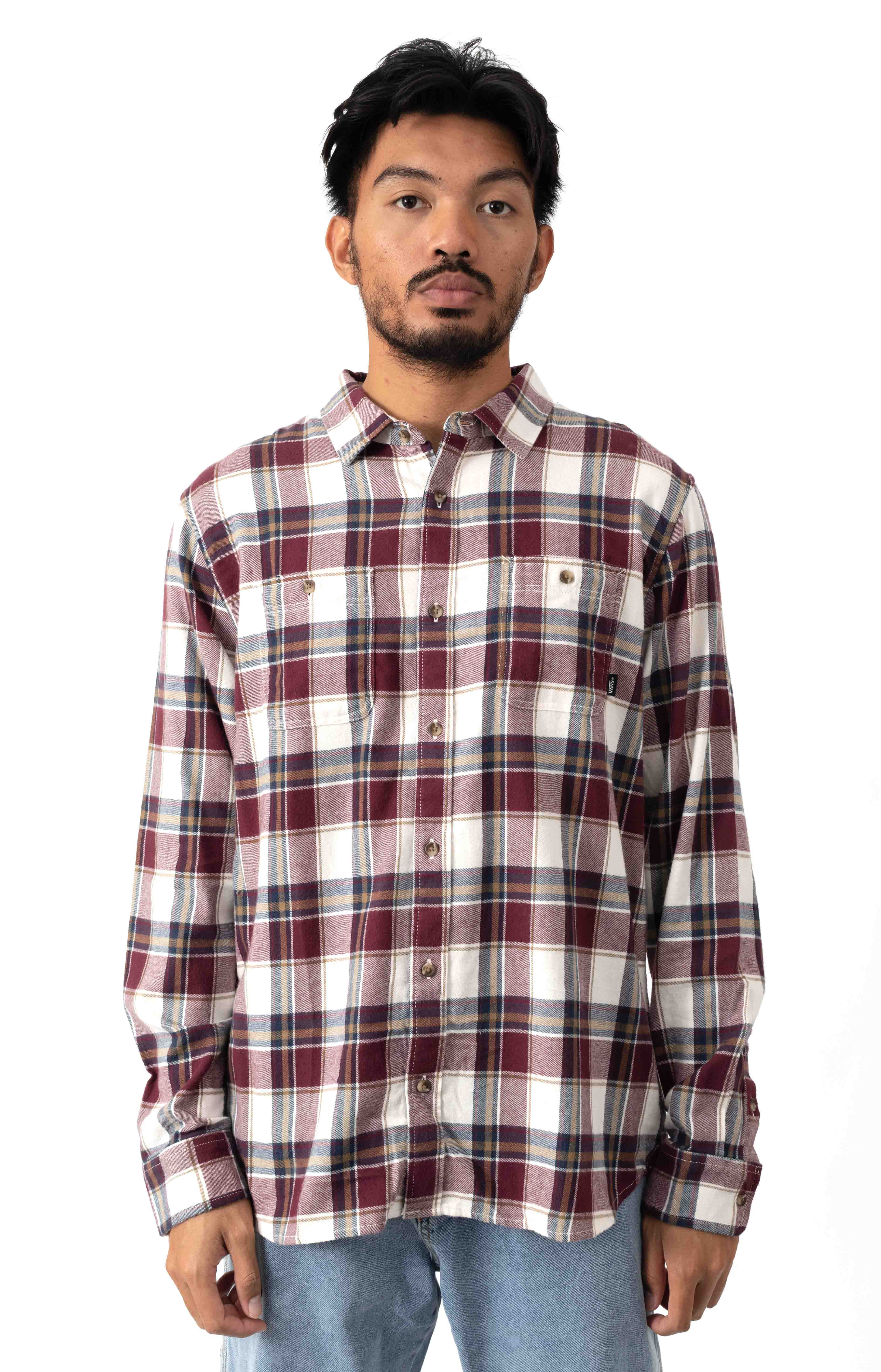 Banfield III Button-Up Shirt - Antique White/Port Royale