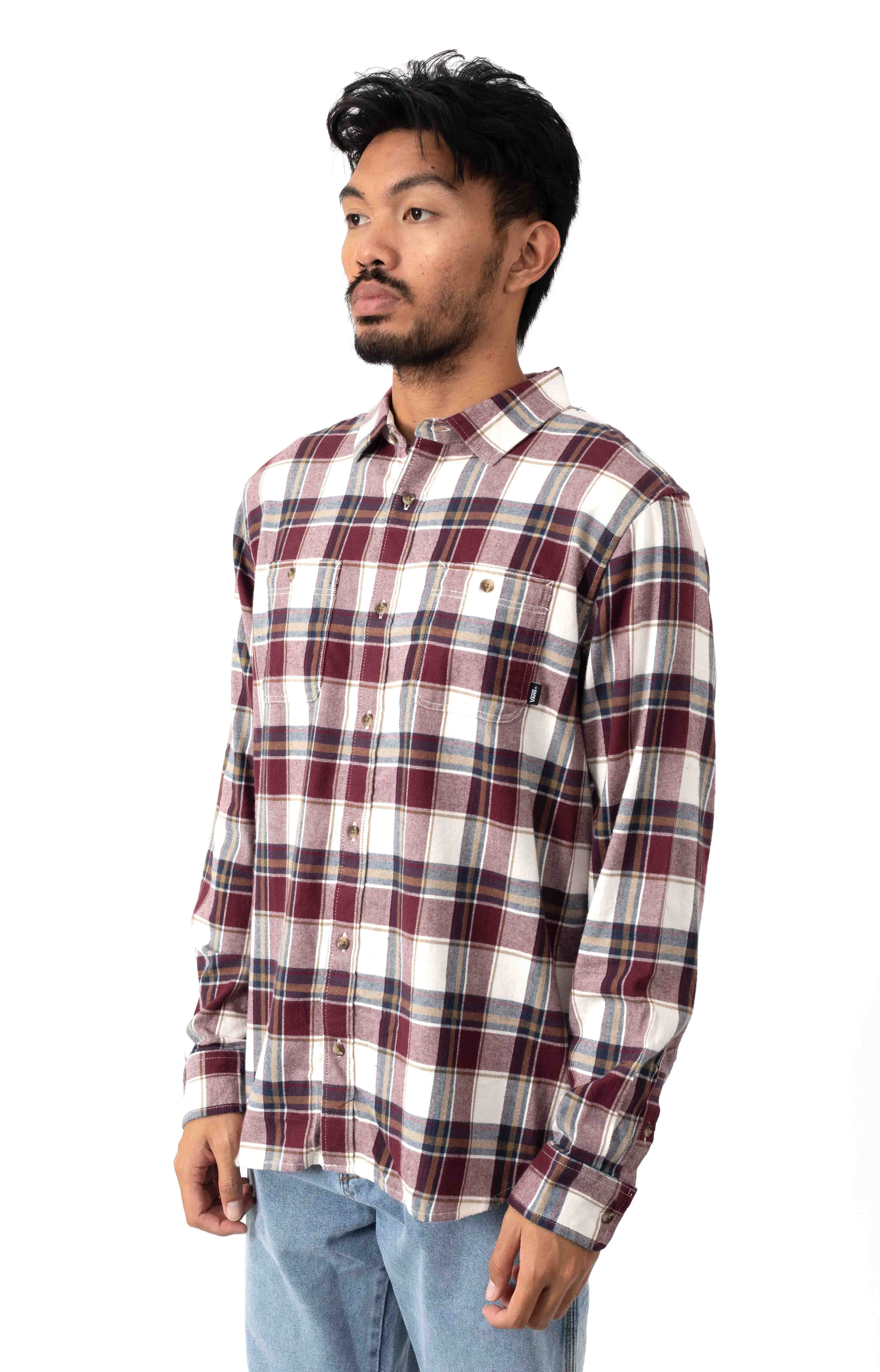 Banfield III Button-Up Shirt - Antique White/Port Royale 2