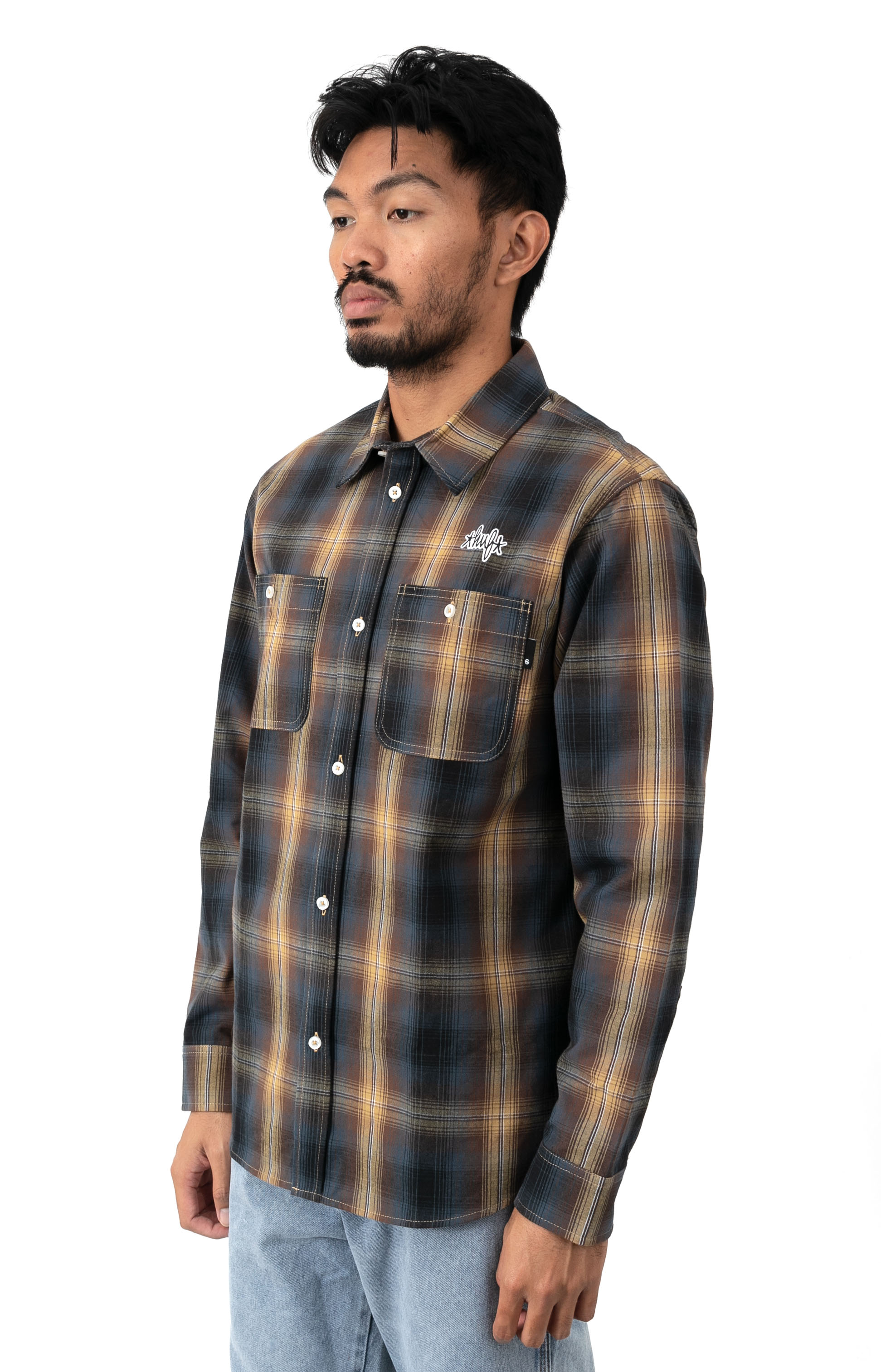Sanford Button-Up Shirt - Rich Brown  2