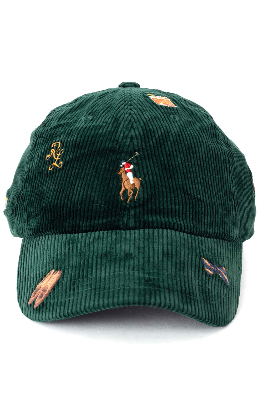 Corduroy Classic Sports Cap - Green  2