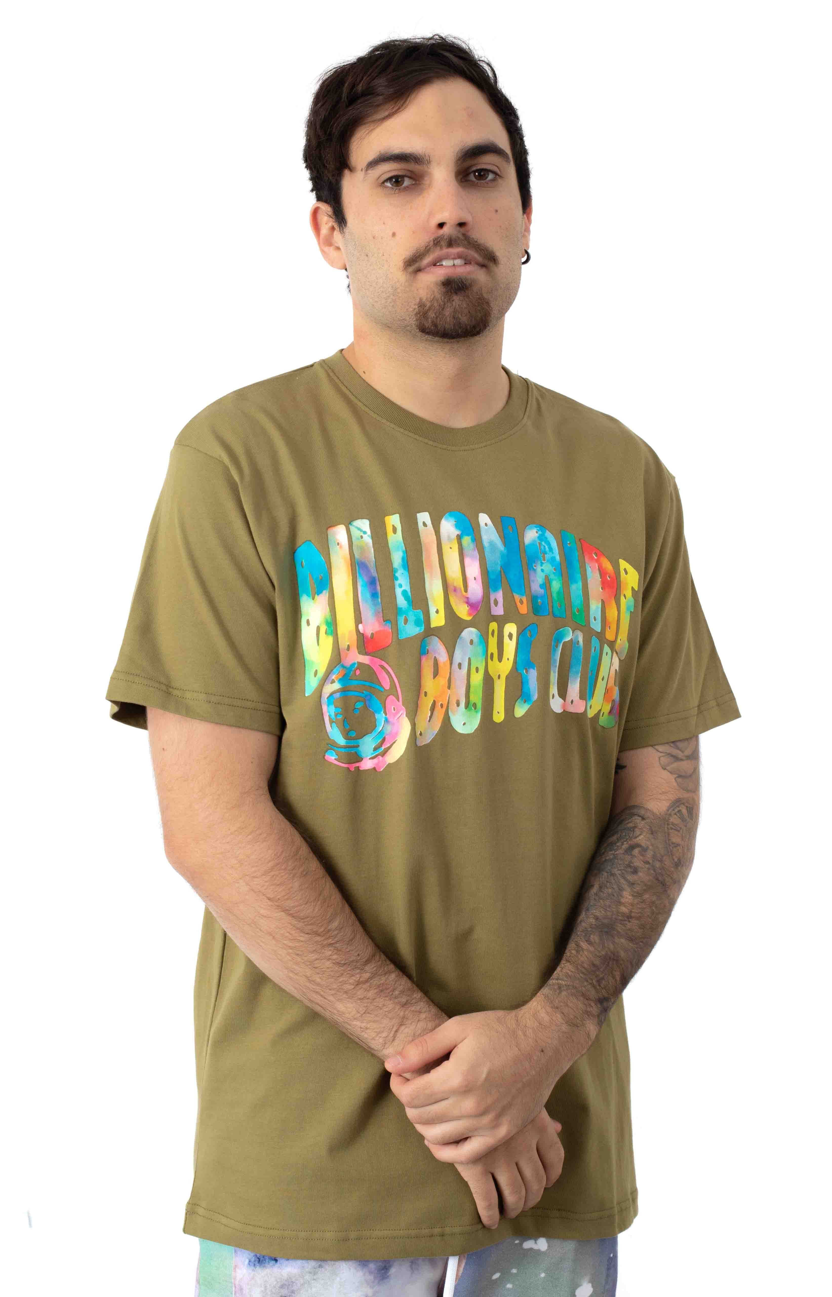 BB Watercolor T-Shirt - Olive Drab