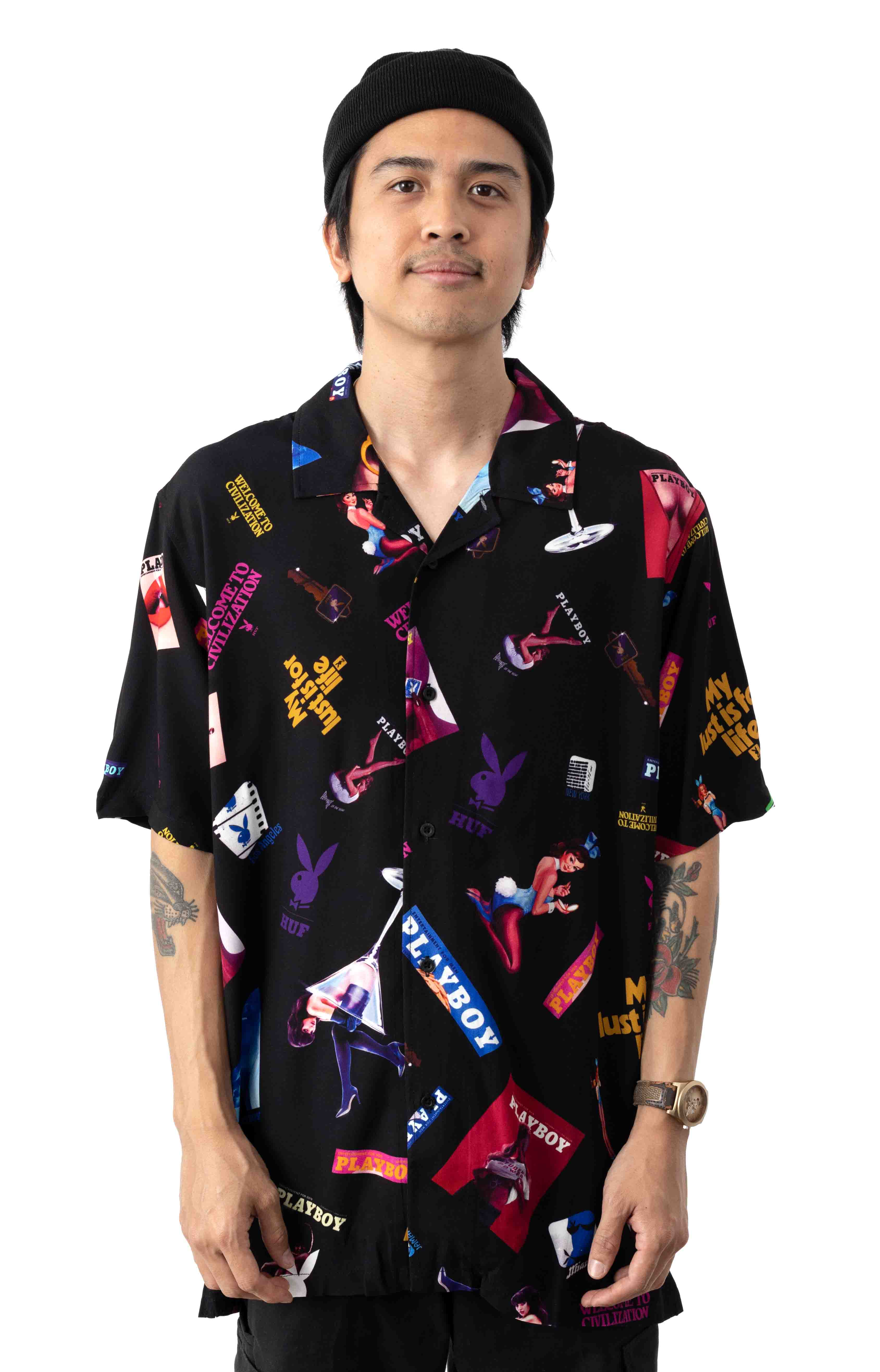 Playboy Collage Button-Up Shirt
