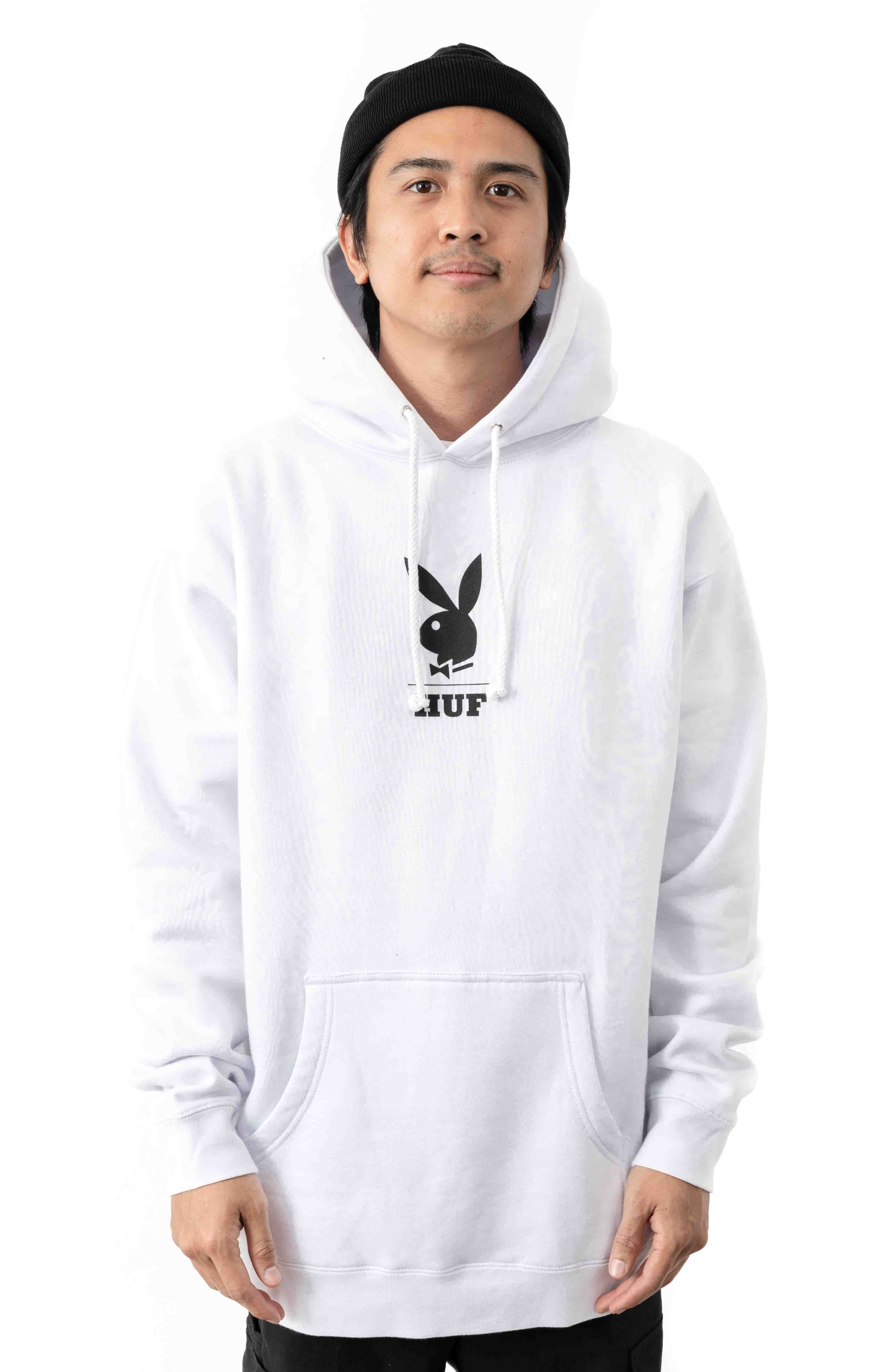 MAY88 Cover Pullover Hoodie - White