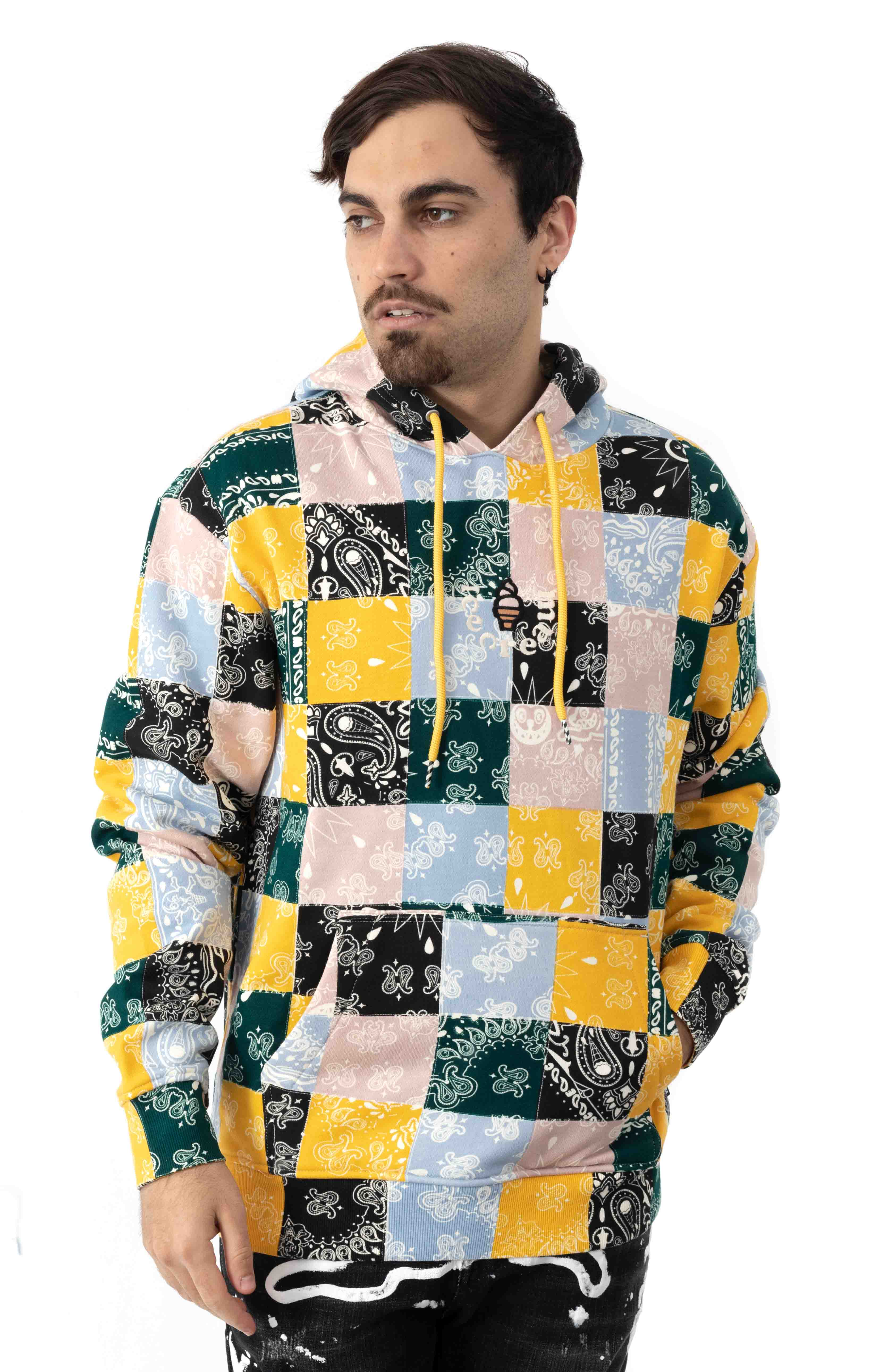 Colored Pullover Hoodie - Multi
