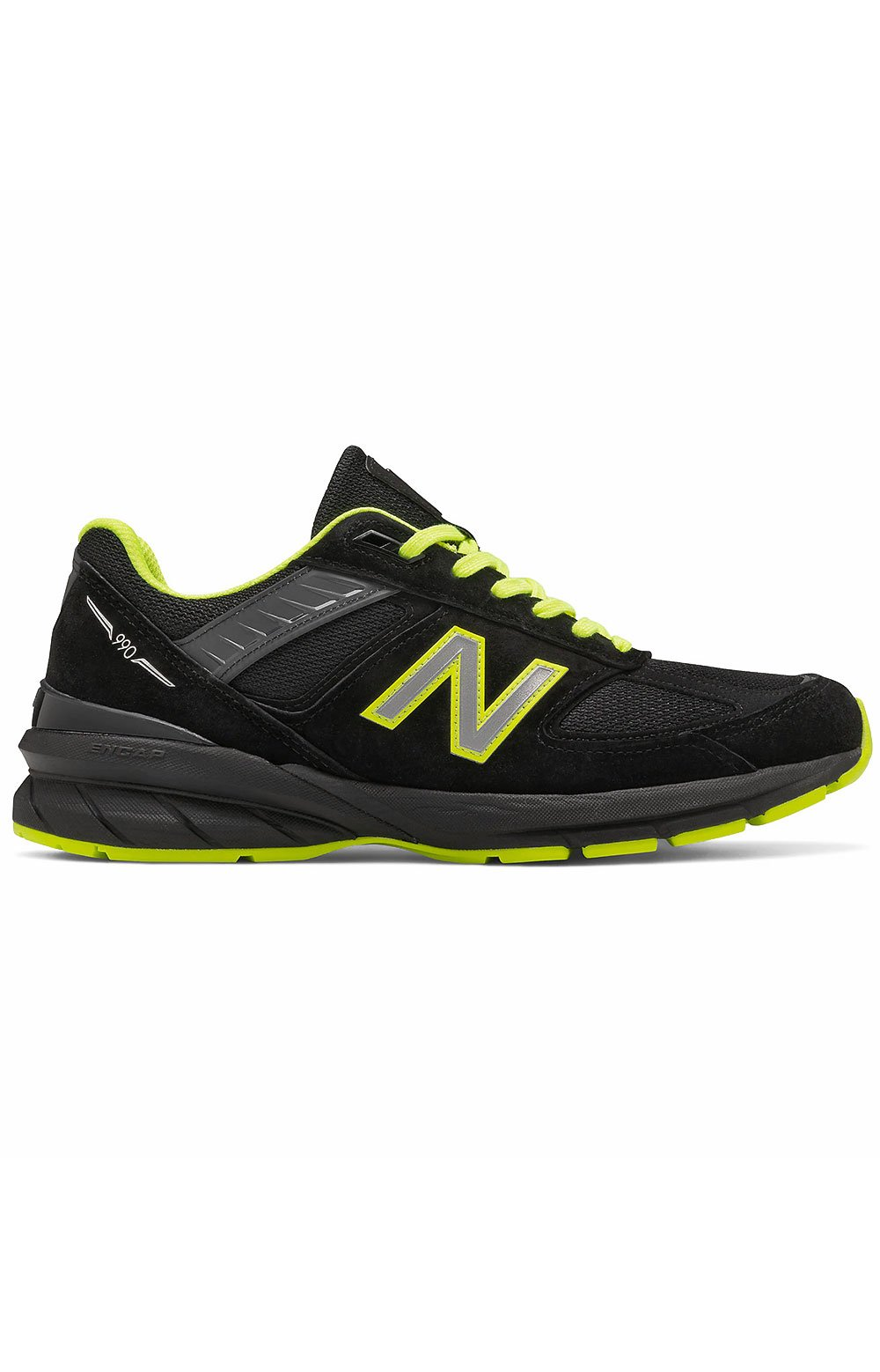 (M990BY5) Made in USA 990v5 Shoes - Black/Hi Lite