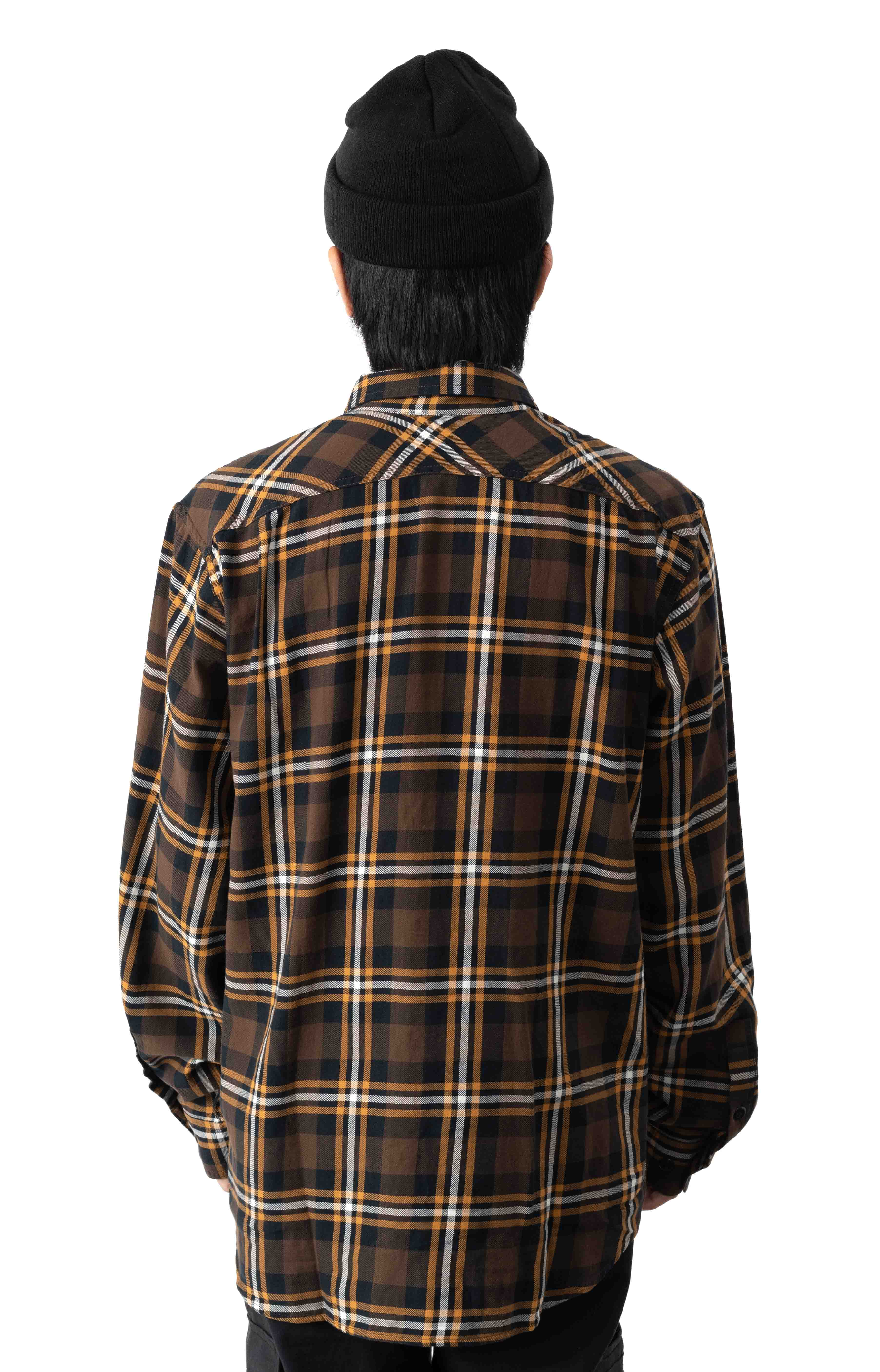 Scout Button-Up Shirt - Brown/Black/Gold 3