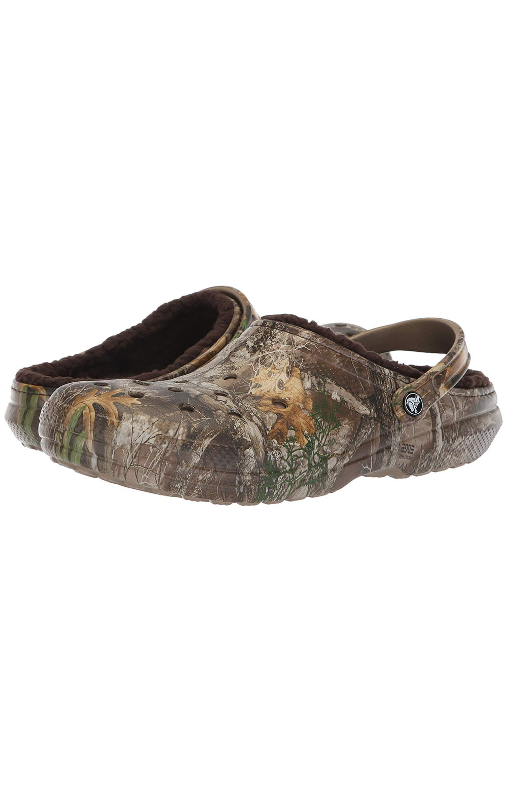 Classic Lined Realtree Edge Clogs - Chocolate/Chocolate 3