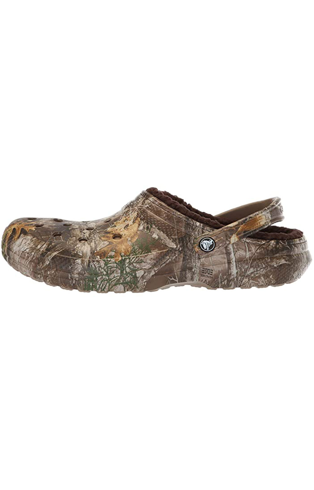 Classic Lined Realtree Edge Clogs - Chocolate/Chocolate 6