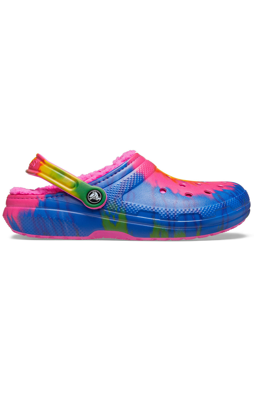Classic Lined Tie-Dye Clogs - Electric Pink/Multi 2