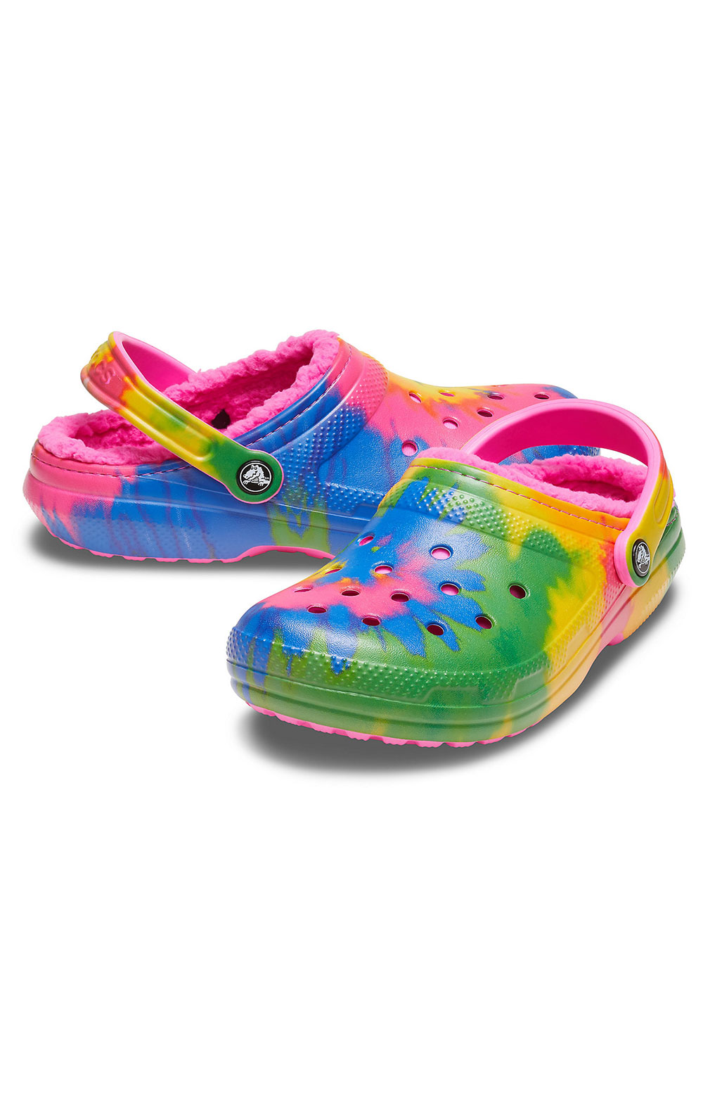 Classic Lined Tie-Dye Clogs - Electric Pink/Multi 3