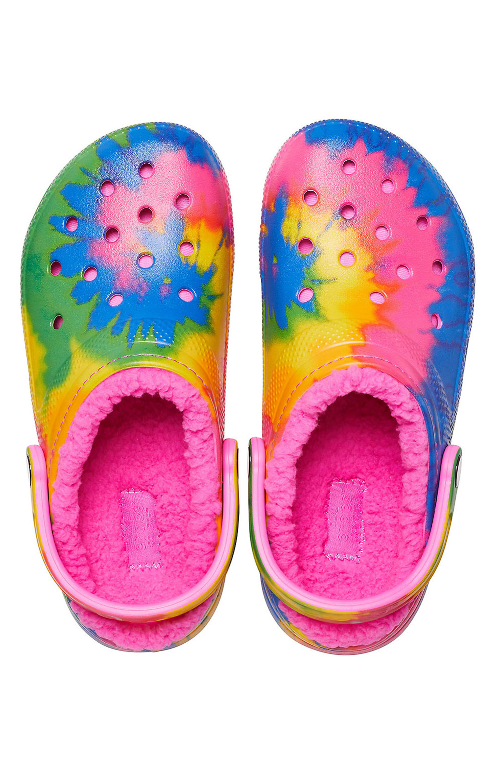 Classic Lined Tie-Dye Clogs - Electric Pink/Multi 4