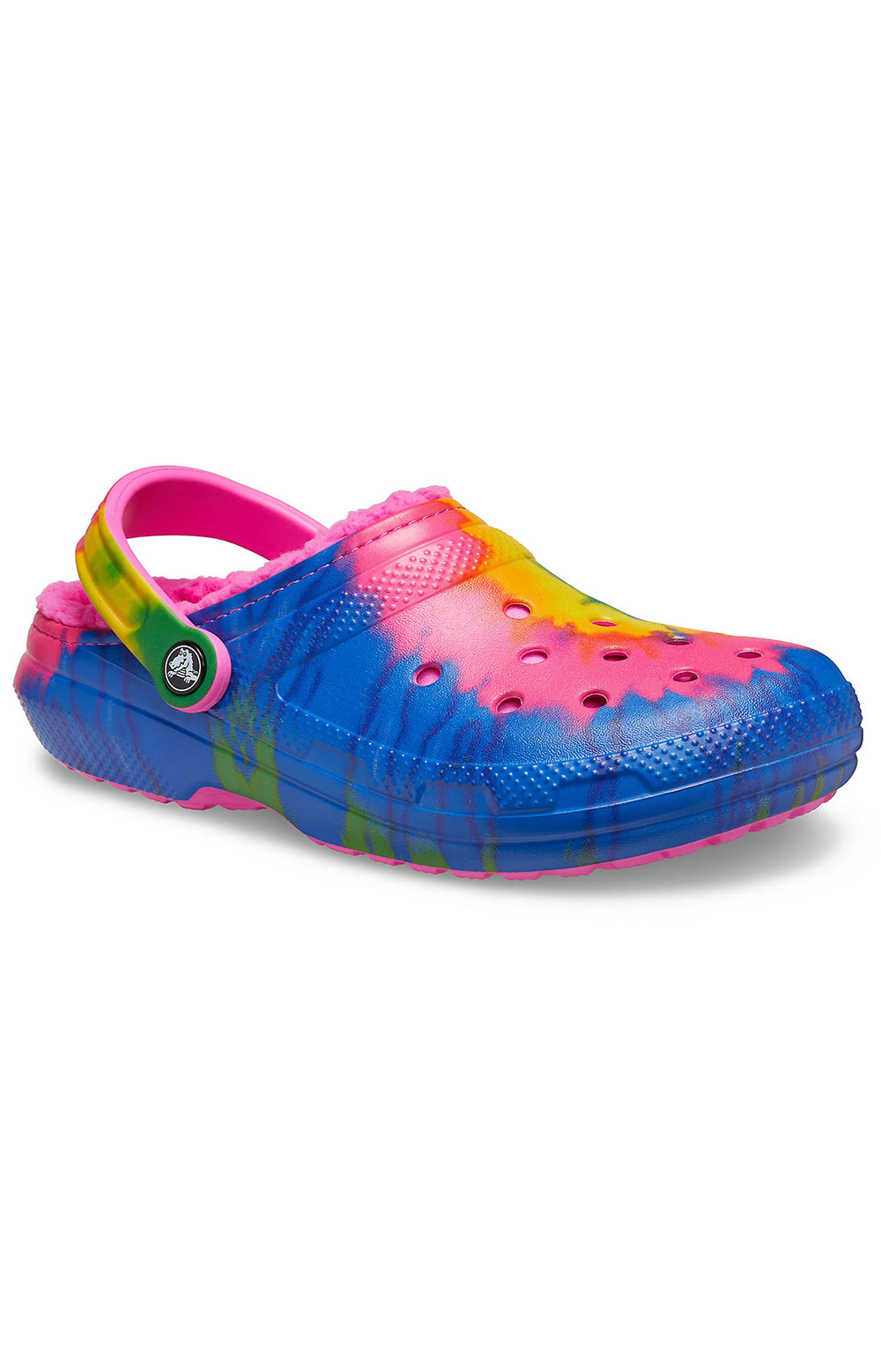 Classic Lined Tie-Dye Clogs - Electric Pink/Multi