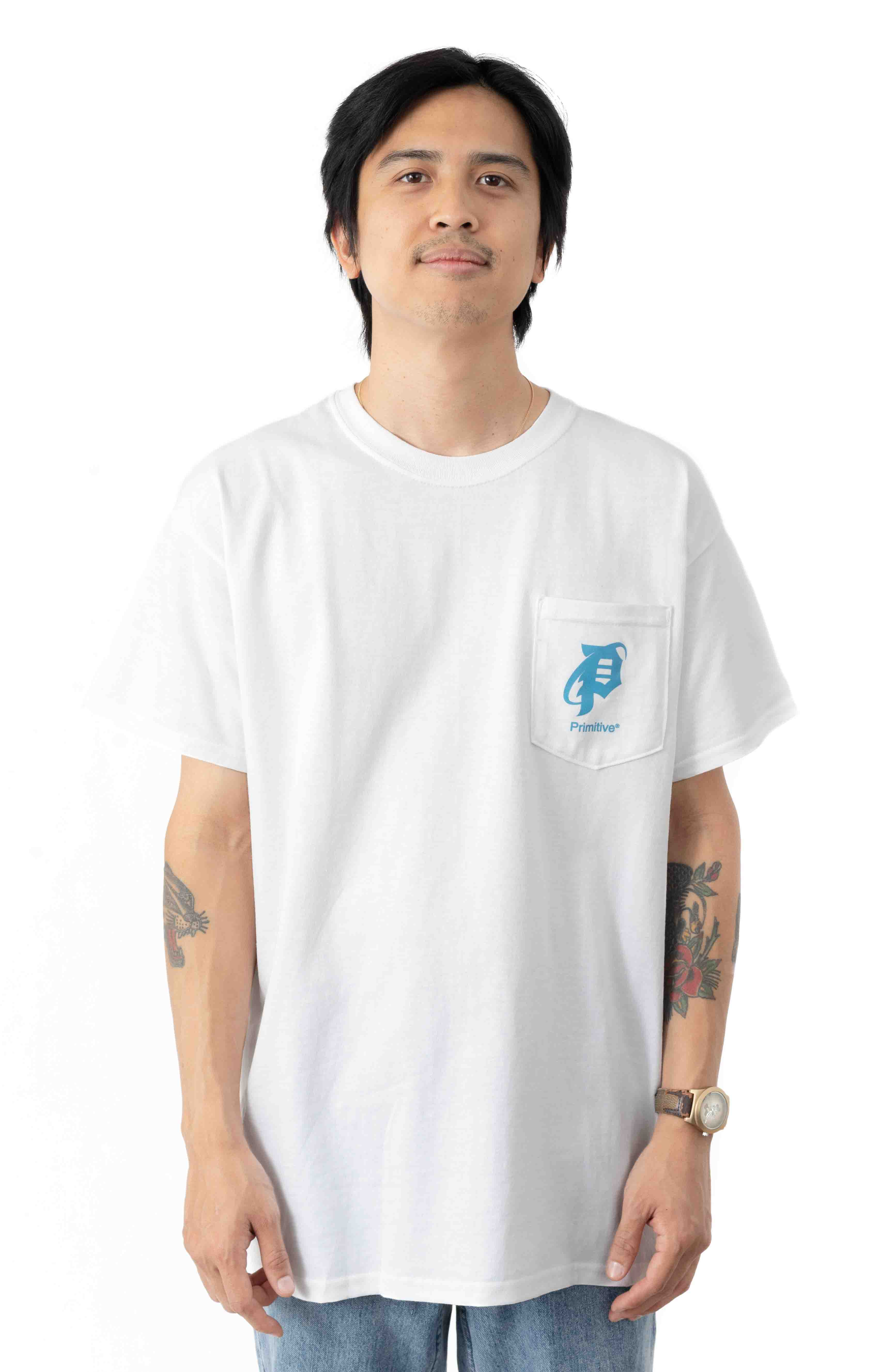 Explorer Pocket T-Shirt - White  2