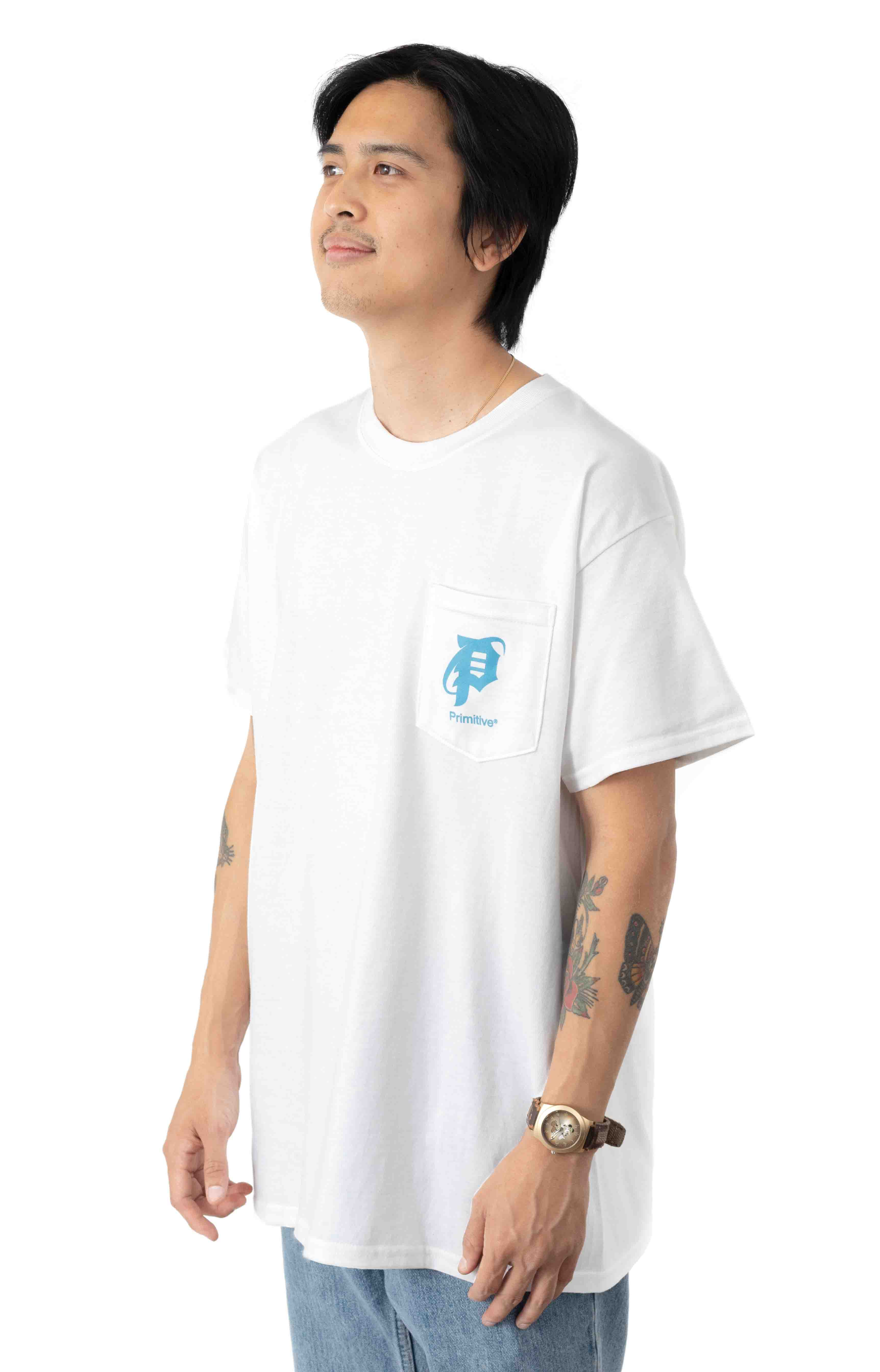 Explorer Pocket T-Shirt - White  3