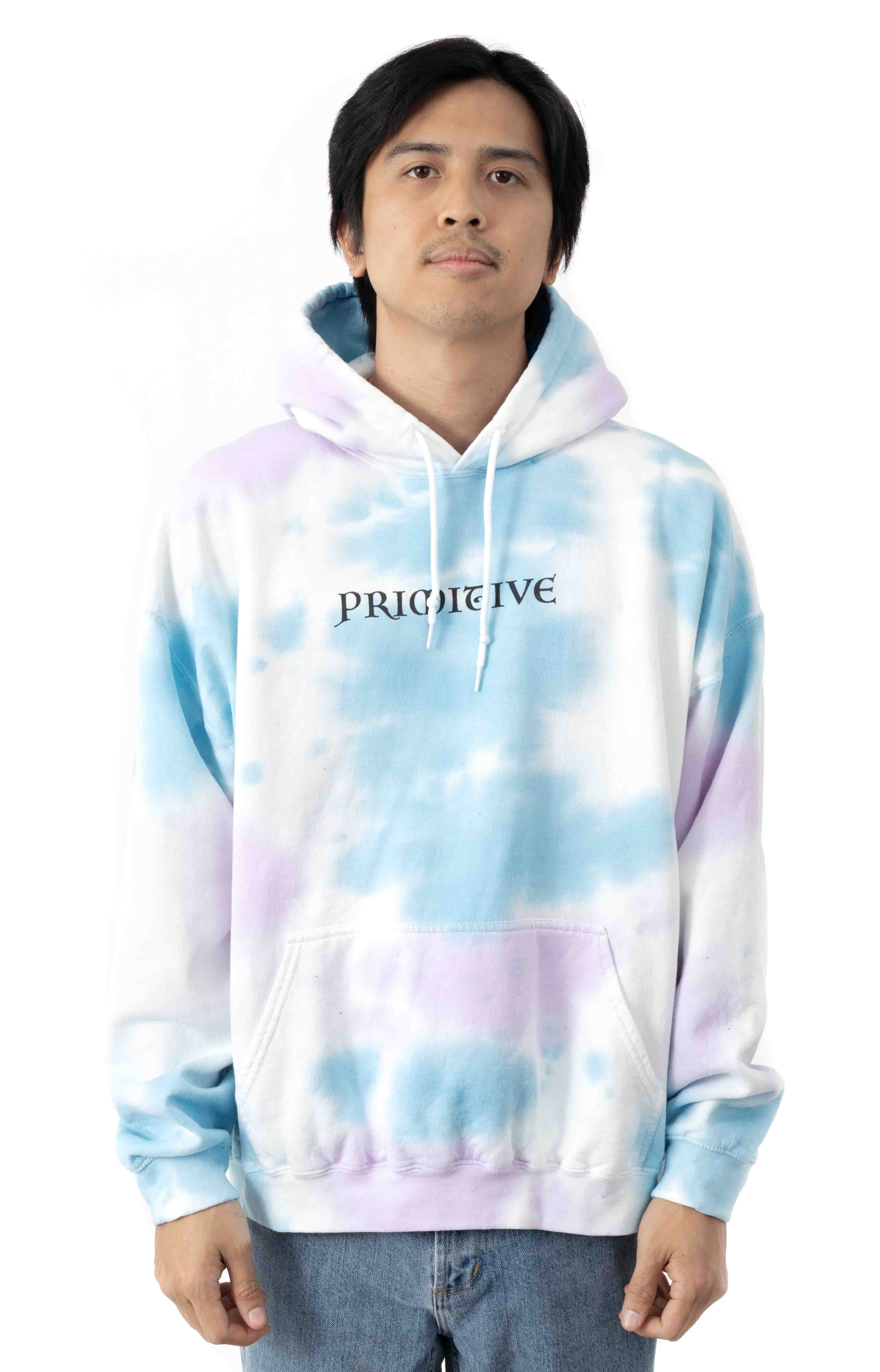 Meta Washed Pullover Hoodie - Blue