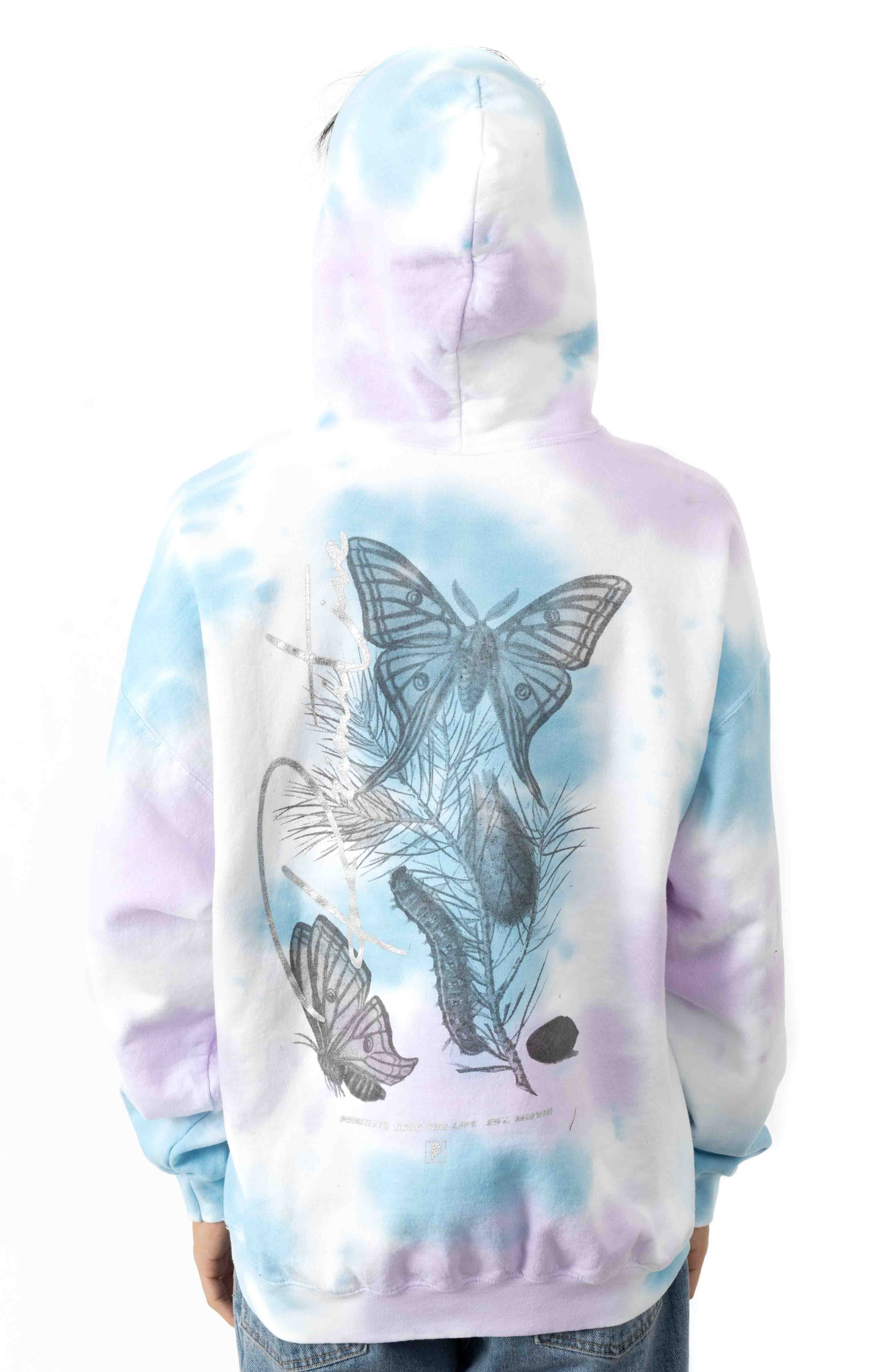 Meta Washed Pullover Hoodie - Blue 3