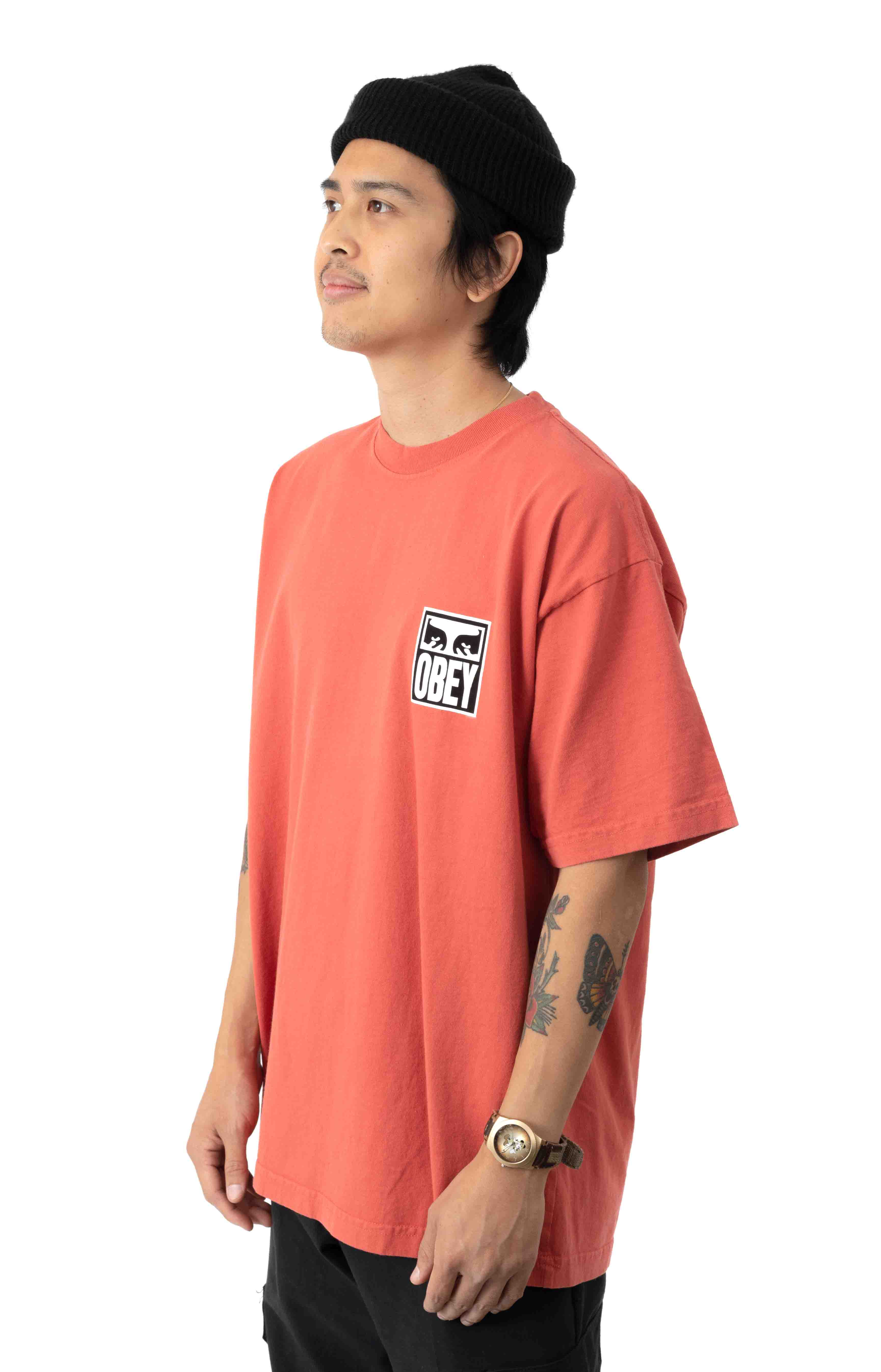 Eyes Icon 2 Heavyweight T-Shirt - Chili 2