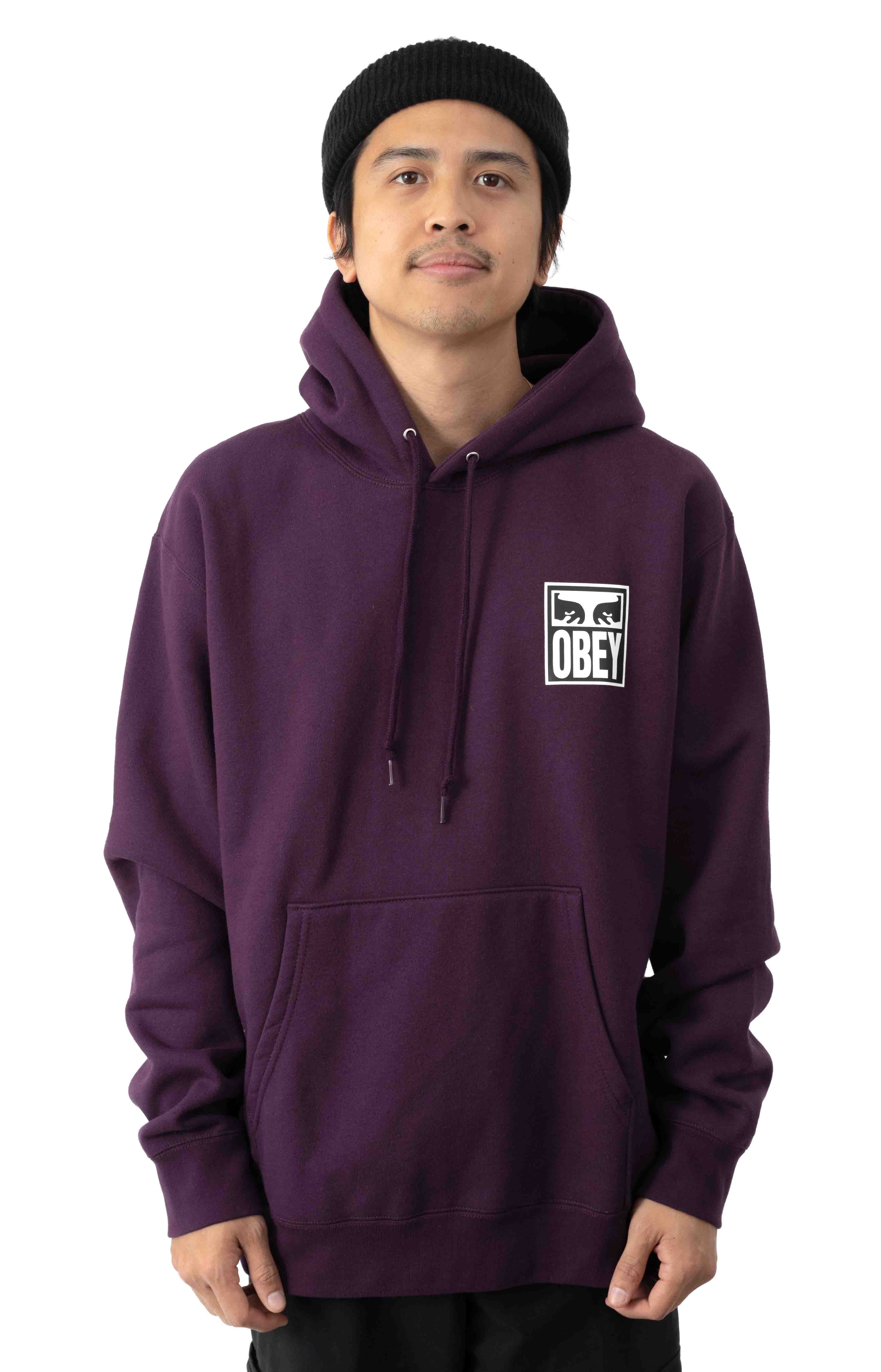 Eyes Icon 2 Pullover Hoodie - Blackberry Wine
