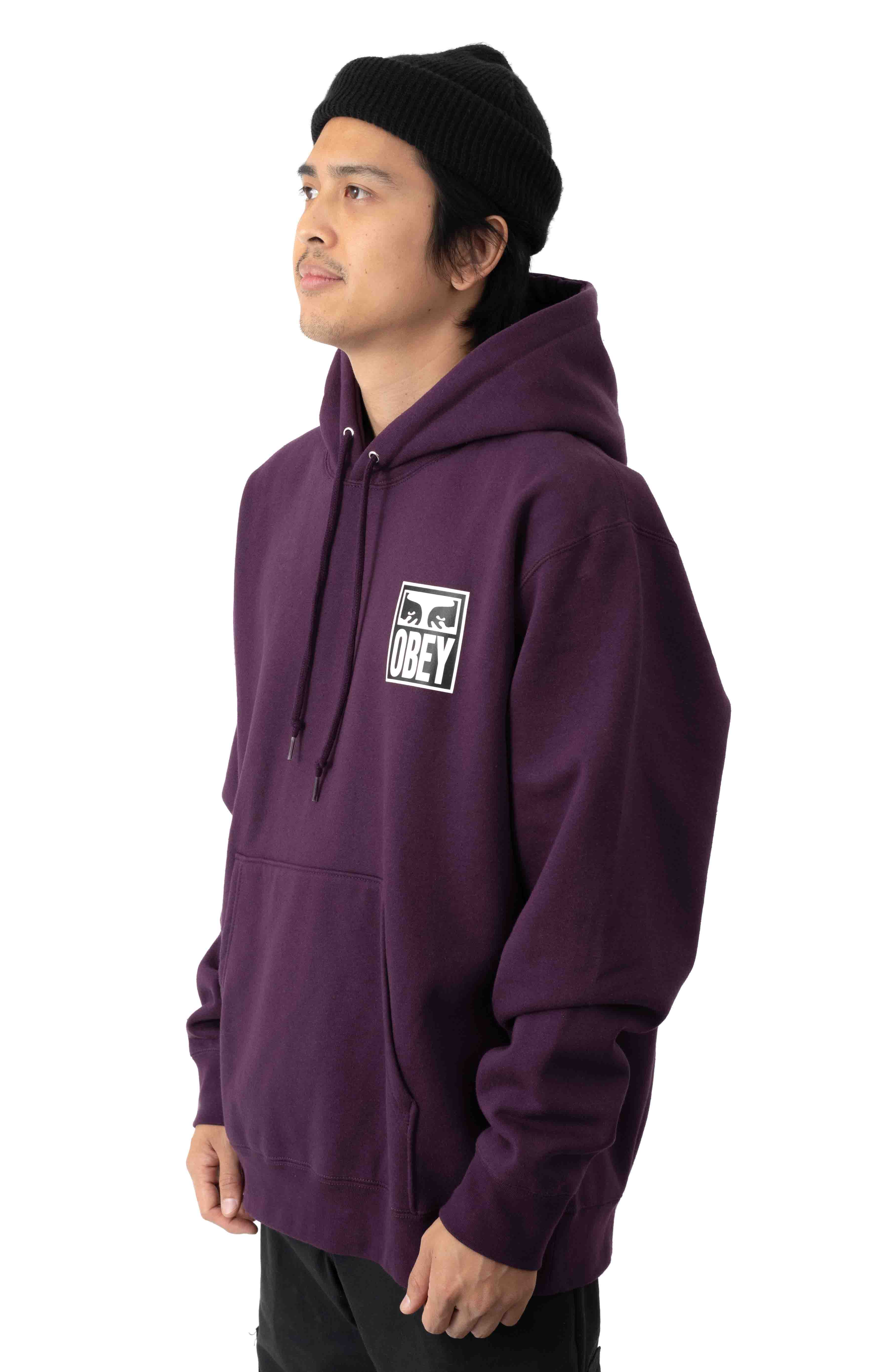 Eyes Icon 2 Pullover Hoodie - Blackberry Wine 2