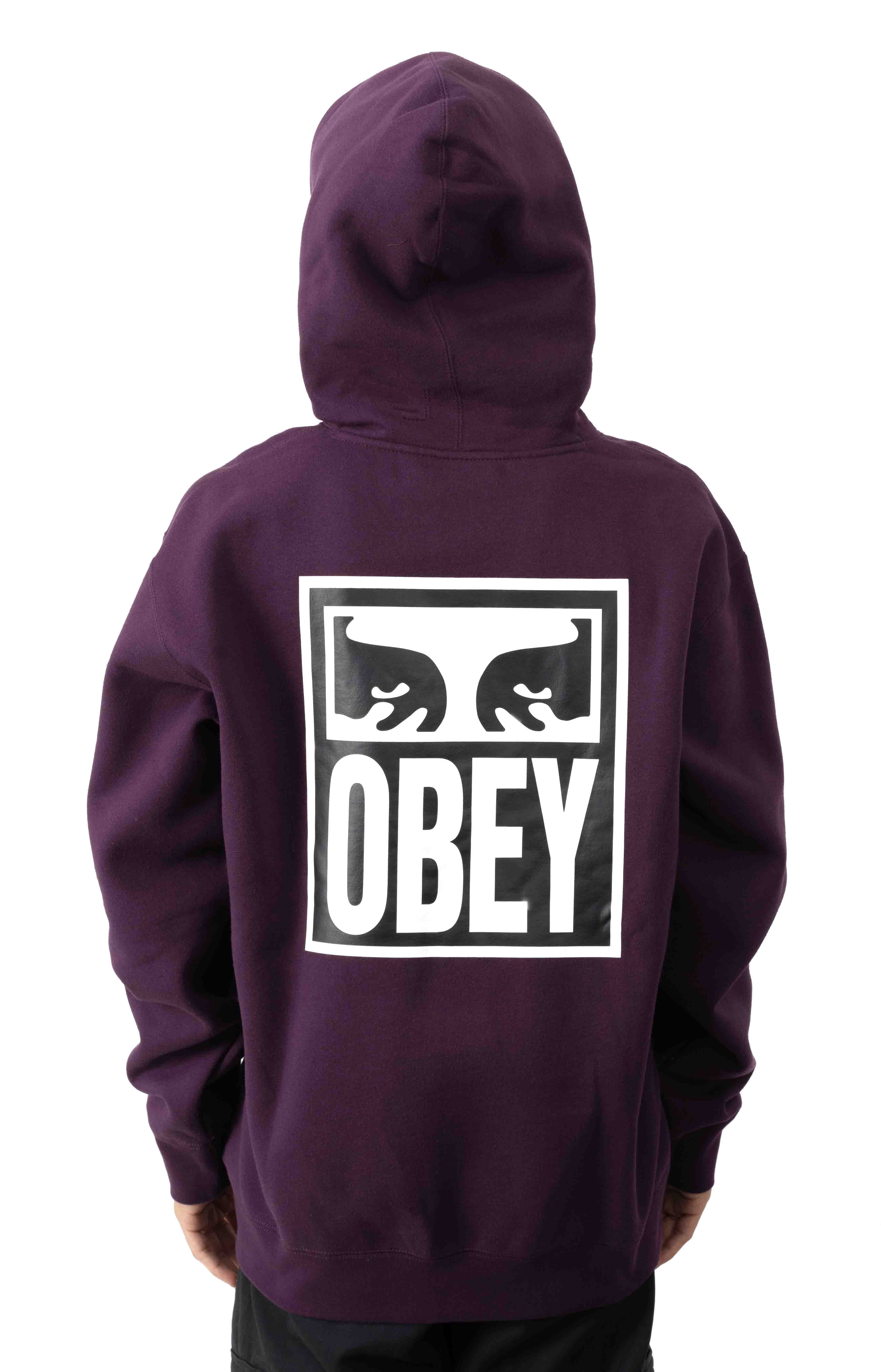 Eyes Icon 2 Pullover Hoodie - Blackberry Wine 3