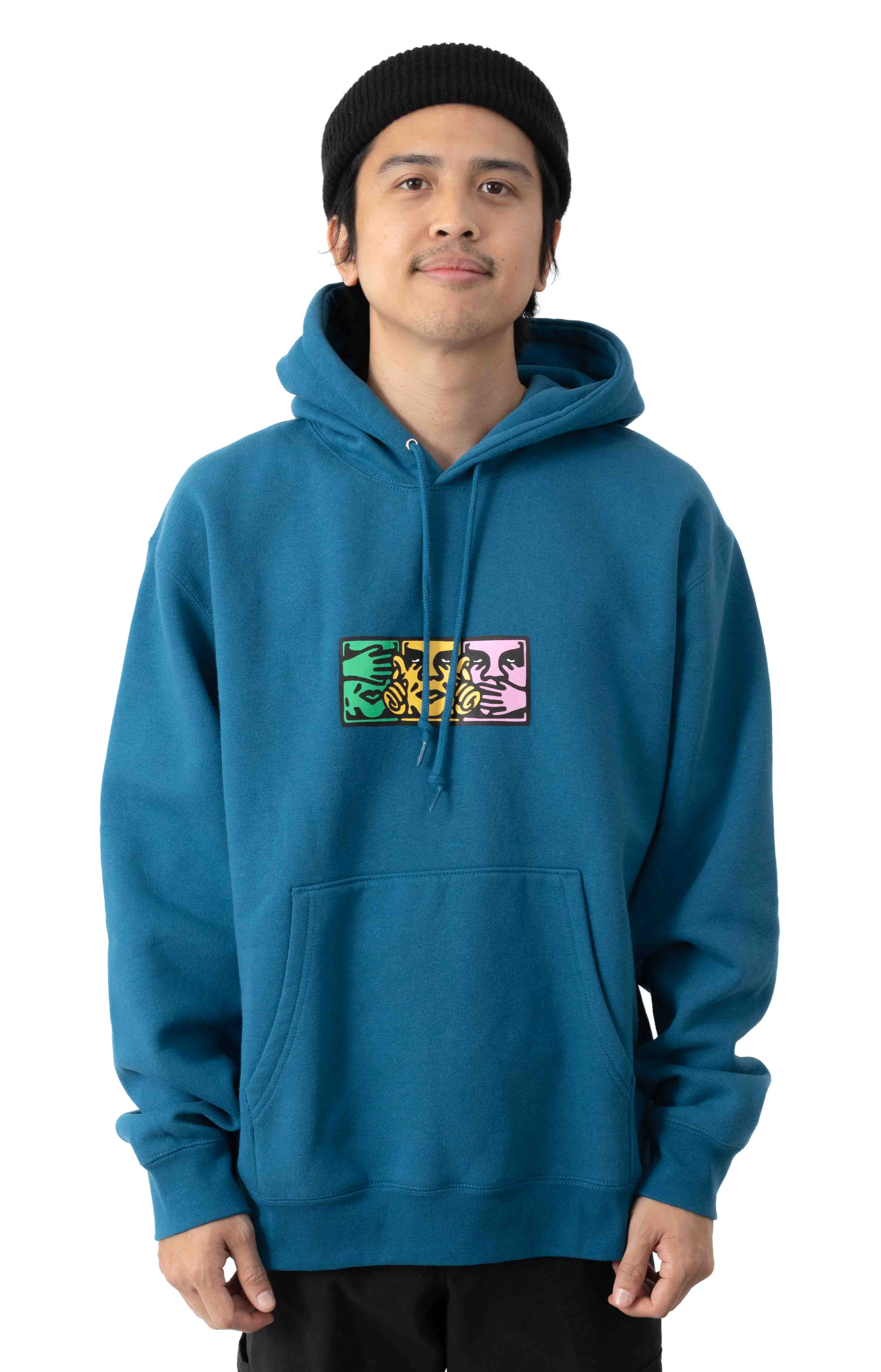 No Evil Pullover Hoodie - Sapphire
