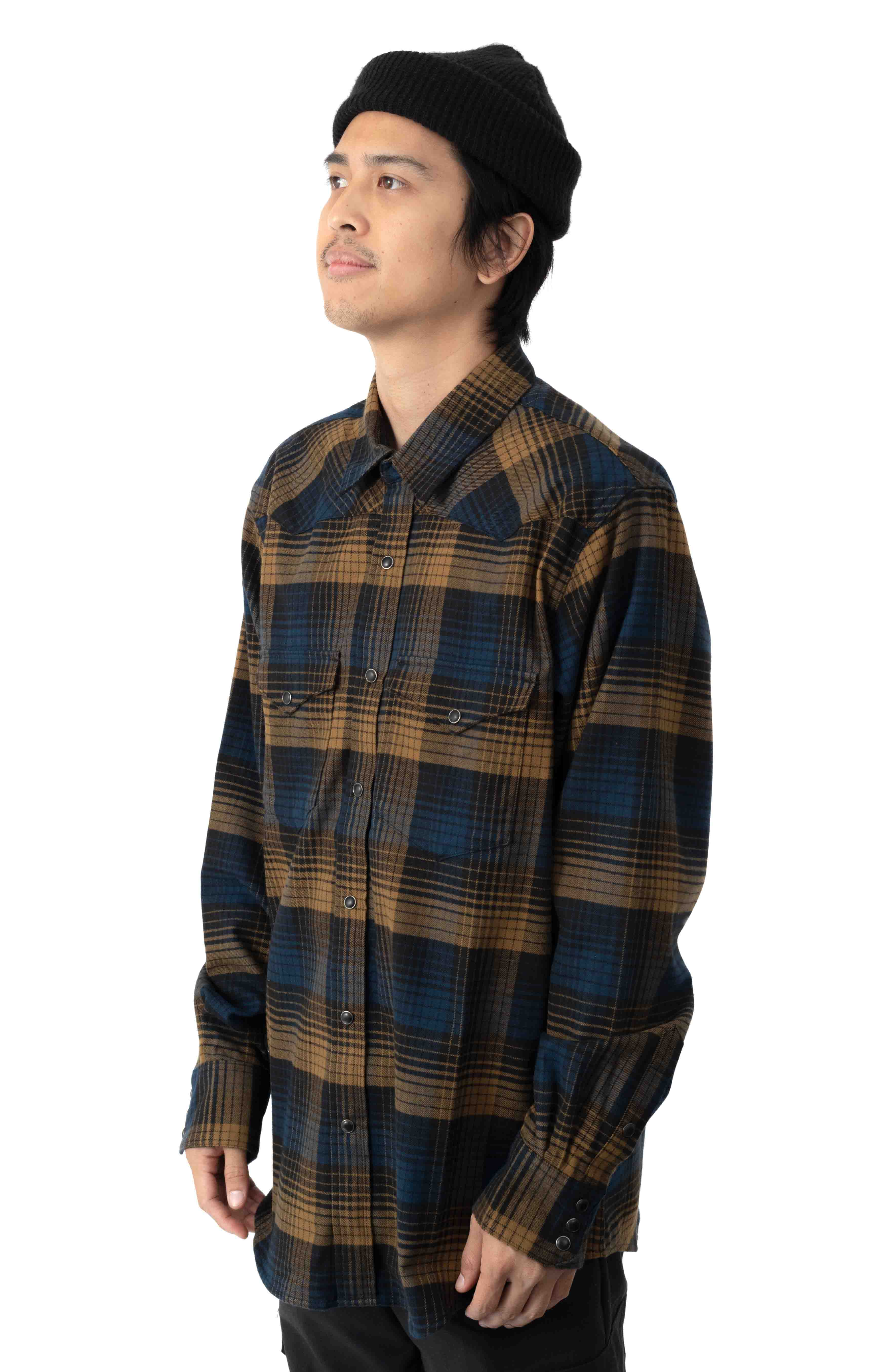 Western Flannel Button-Up Shirt - Plaid  2