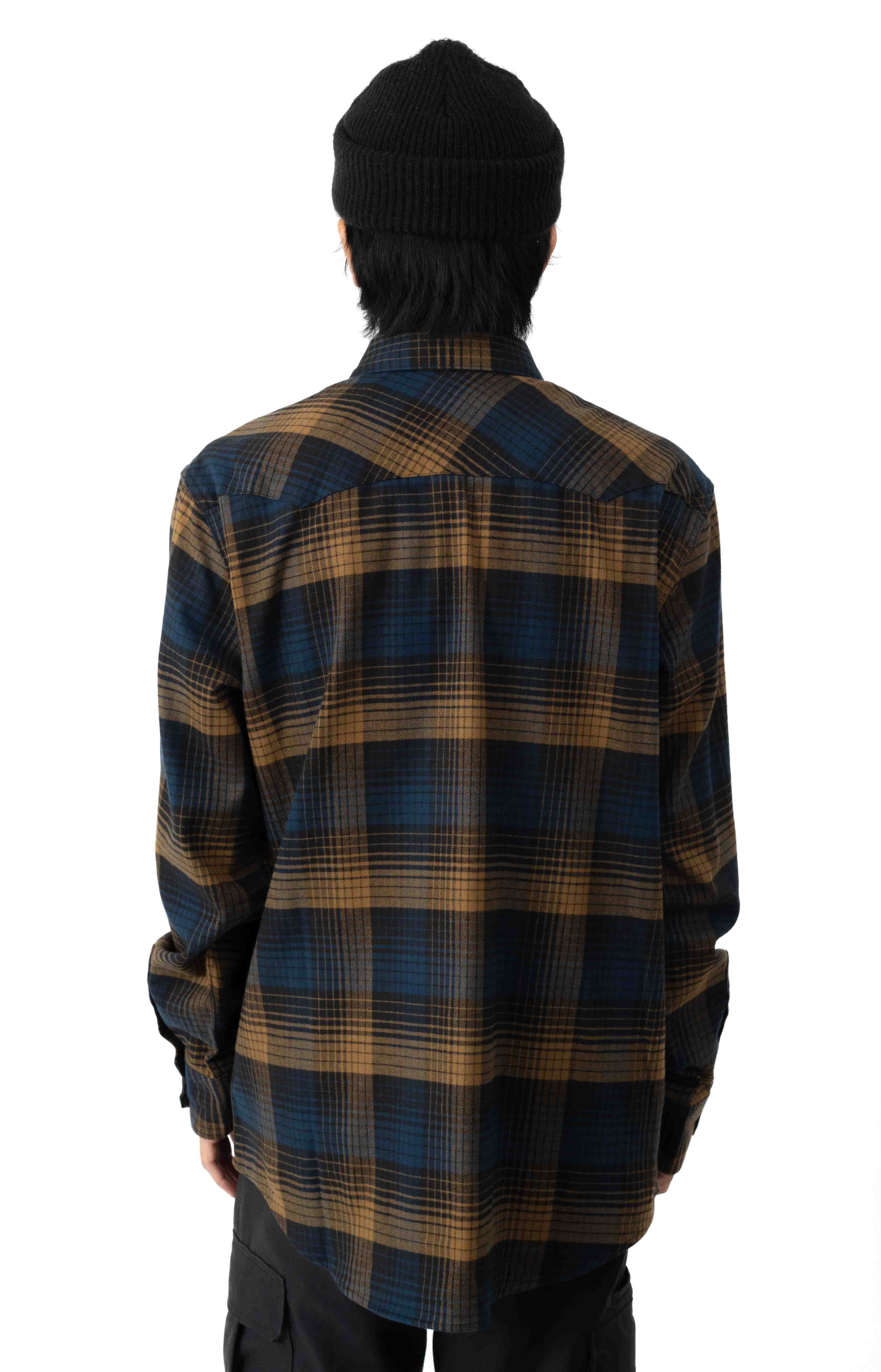 Western Flannel Button-Up Shirt - Plaid  3