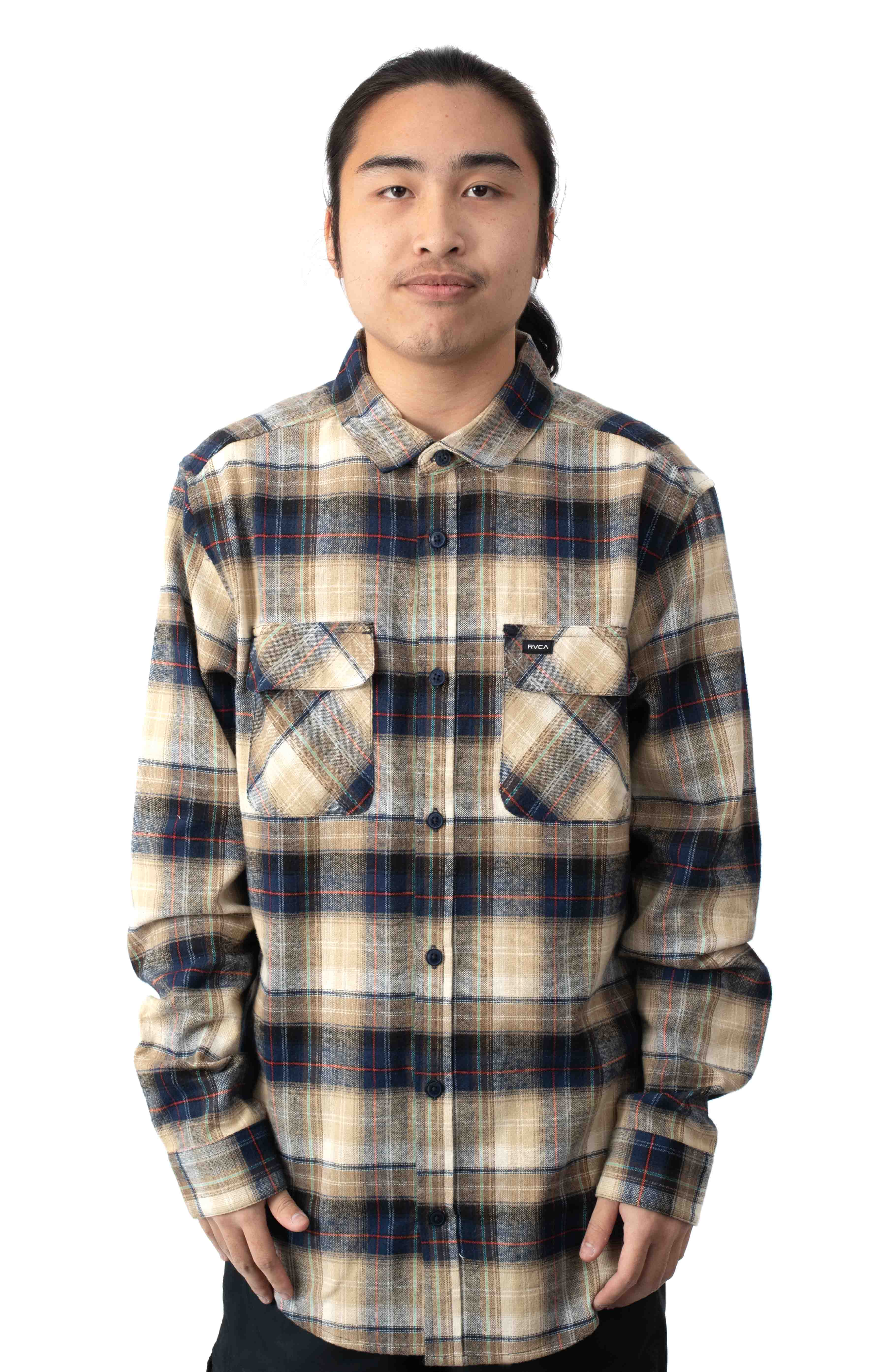 Emerson Flannel Button-Up Shirt - Navy