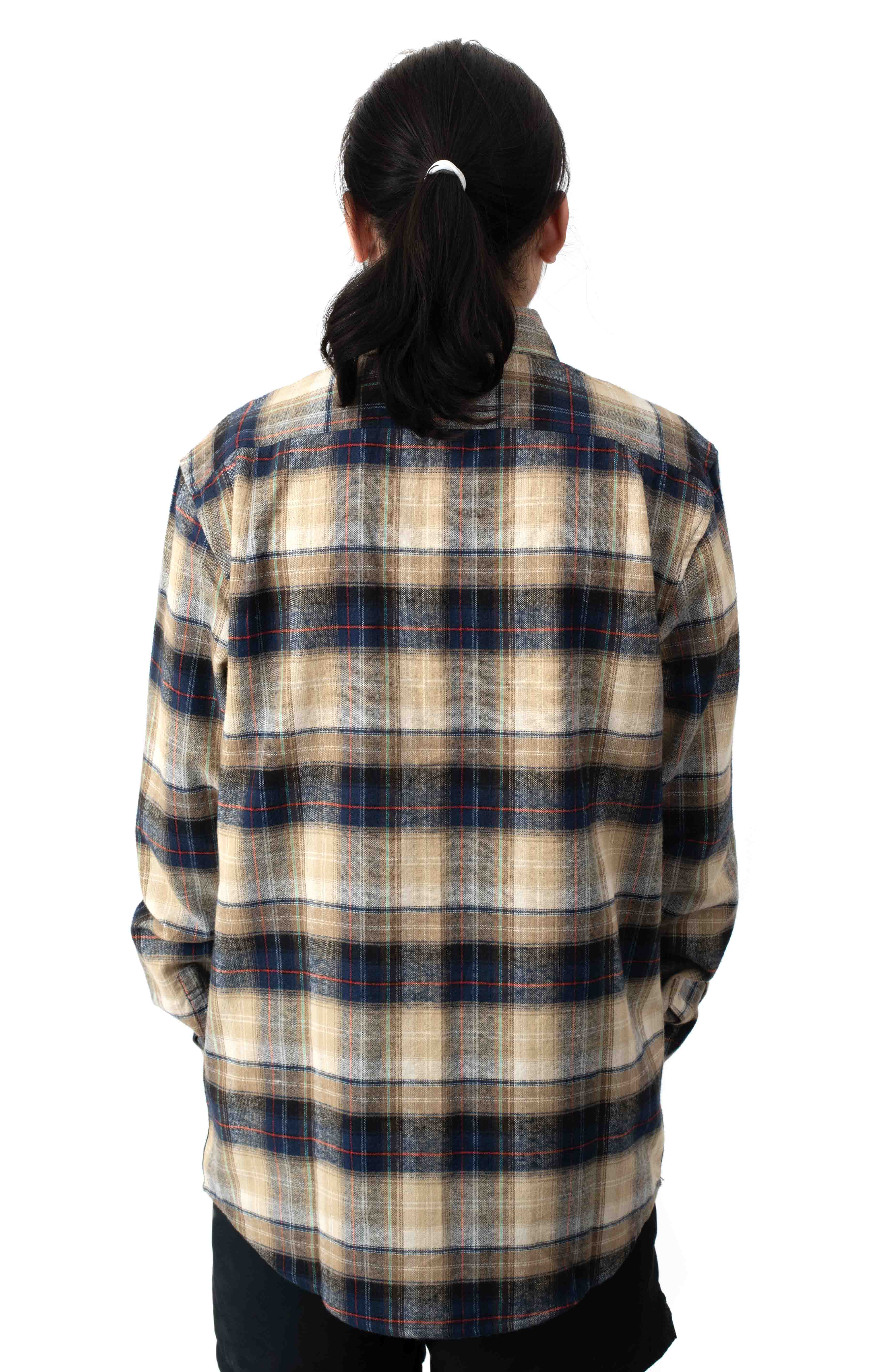 Emerson Flannel Button-Up Shirt - Navy  3