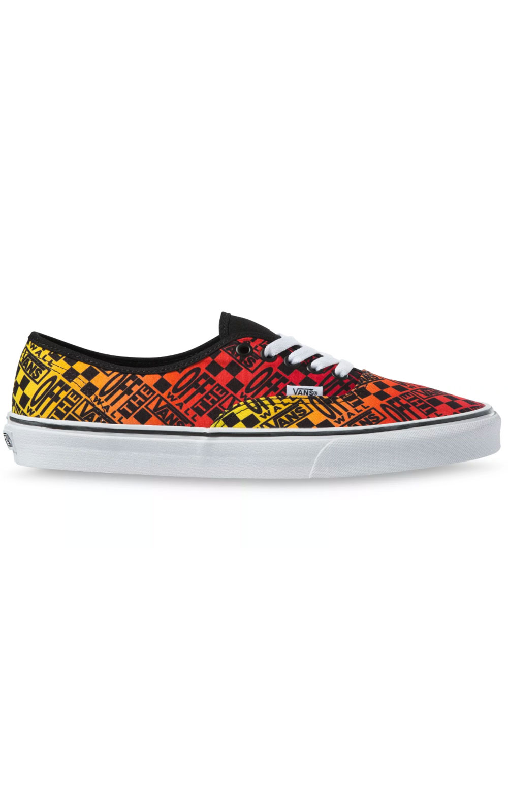 (48A2N5) Logo Flame Authentic Shoes - Black/True White