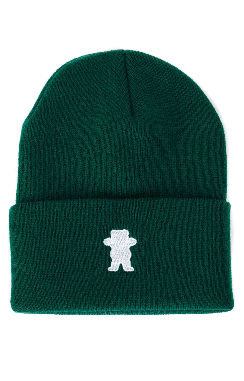 OG Bear Embroidered Beanie - Forest Green