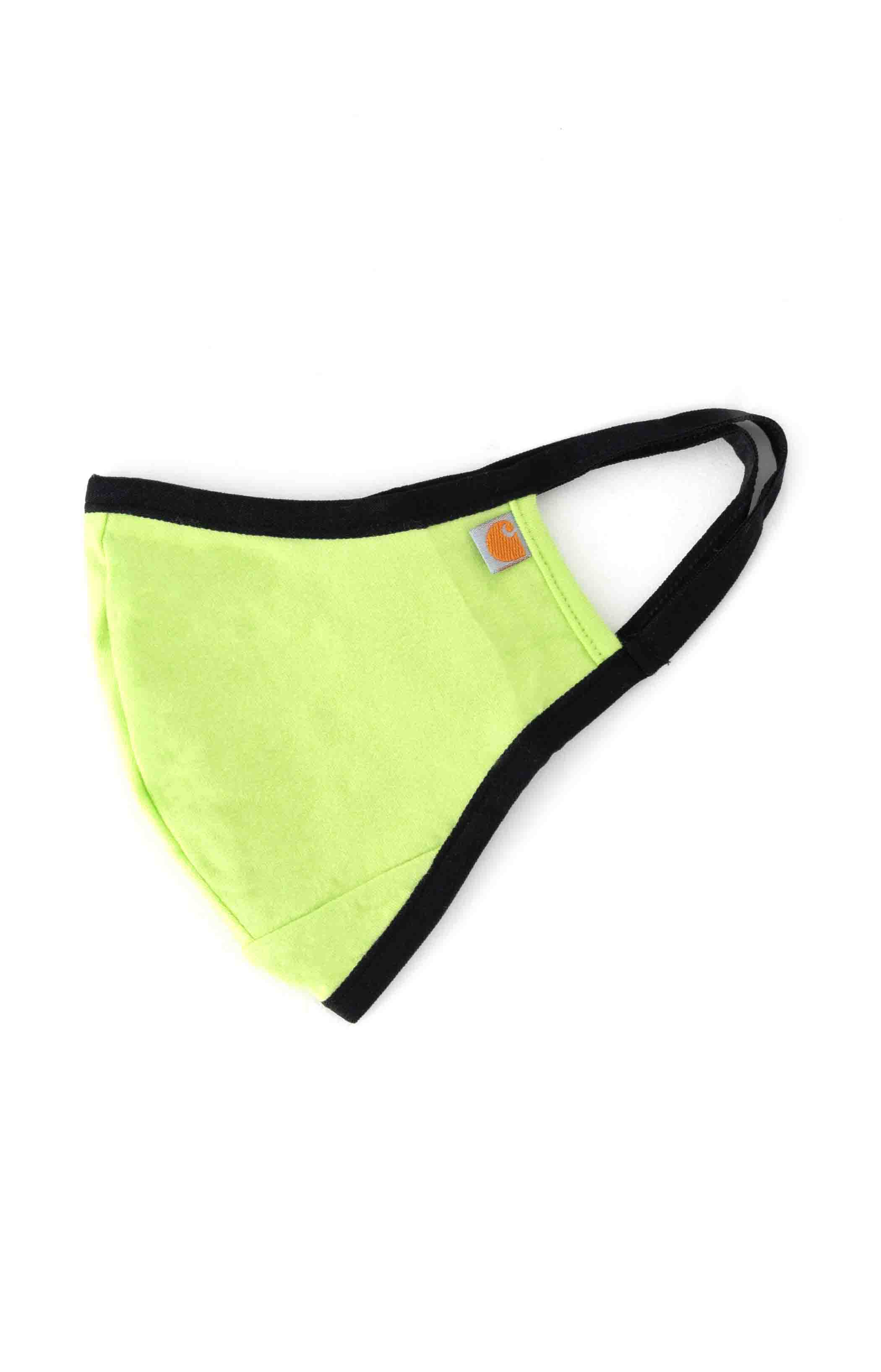 (105083) Cotton Blend Ear Loop Face Mask - Bright Lime