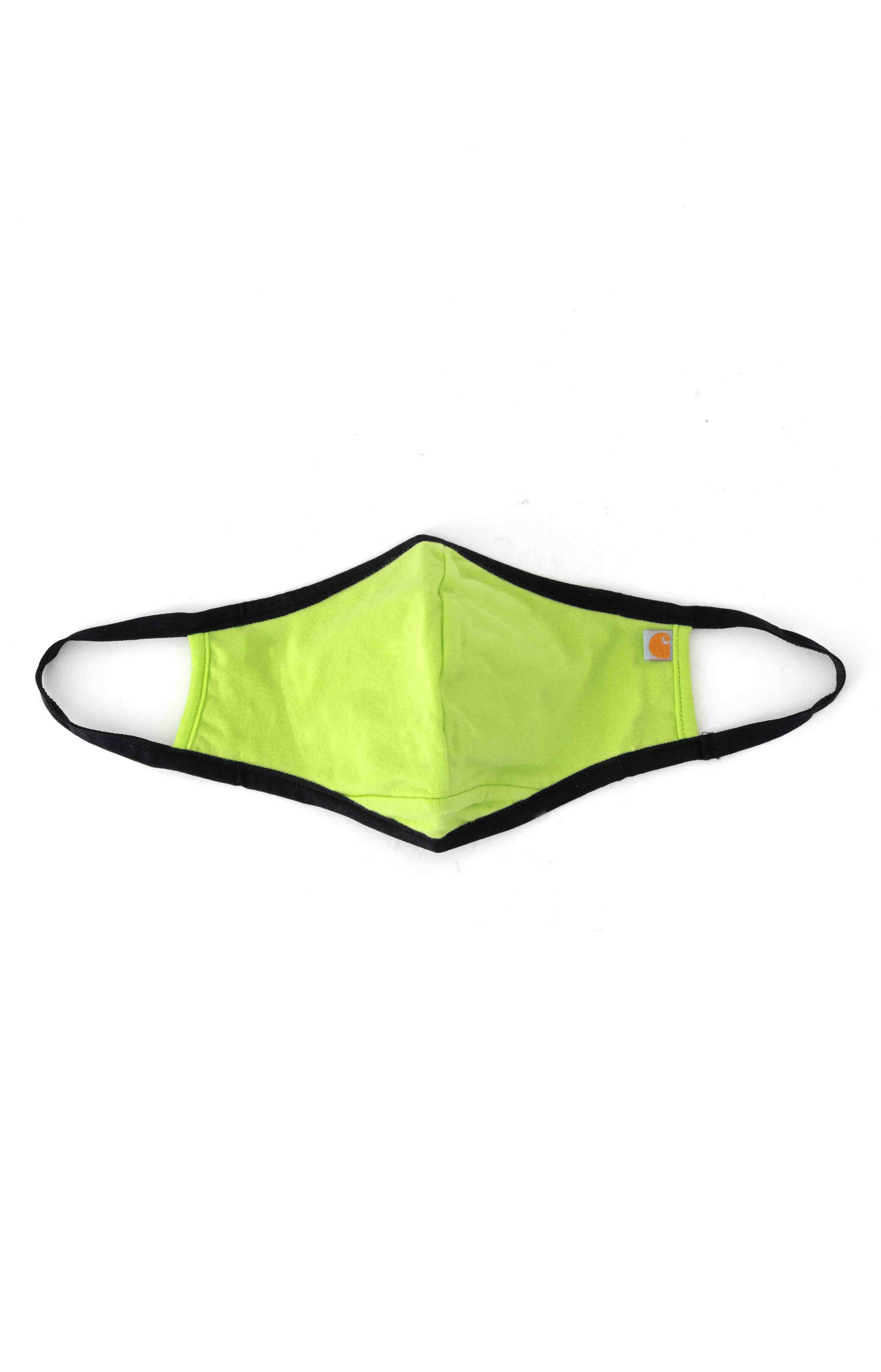 (105083) Cotton Blend Ear Loop Face Mask - Bright Lime 2