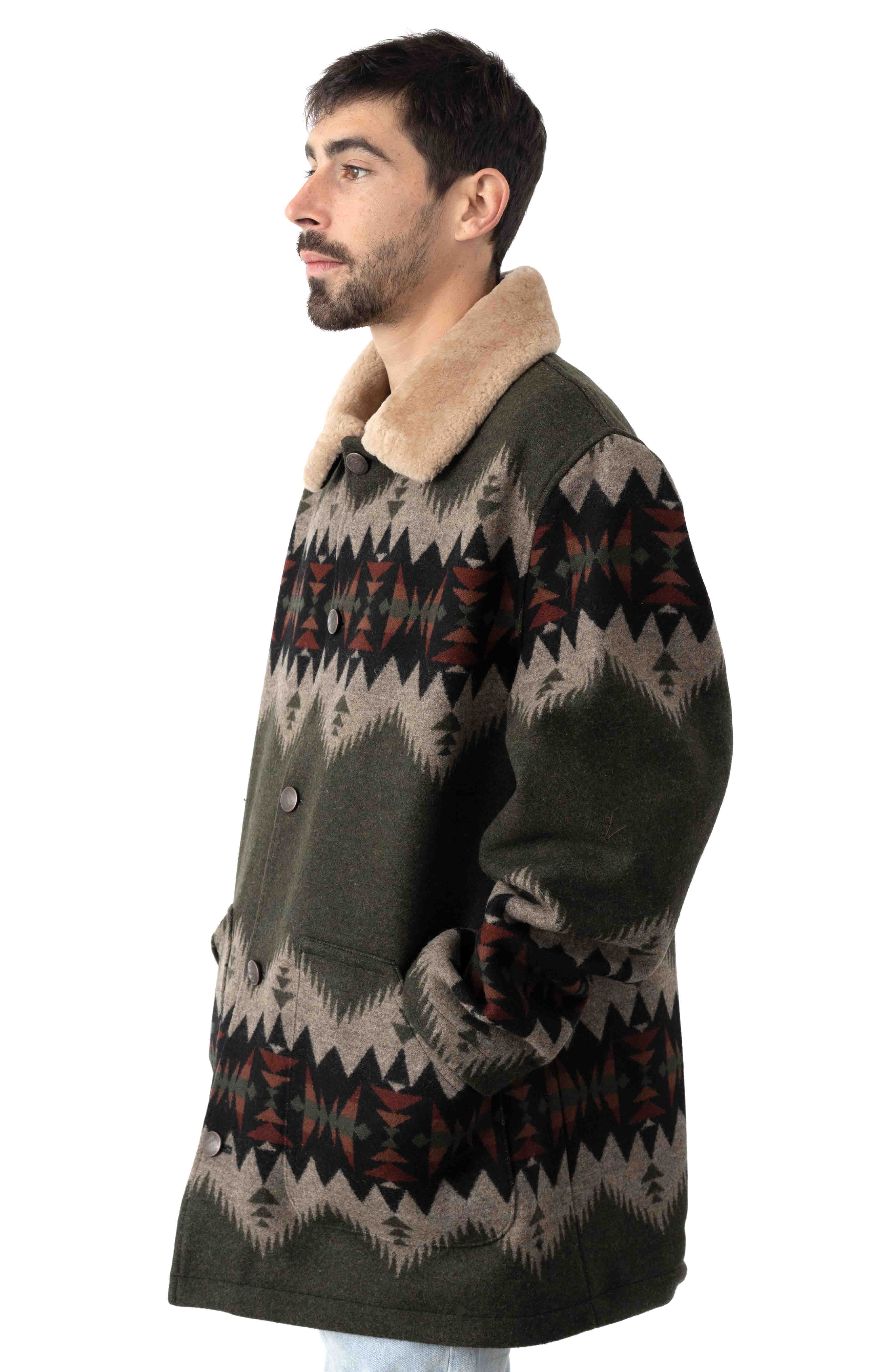 Brownsville Coat - Olive Mix Sonora  2