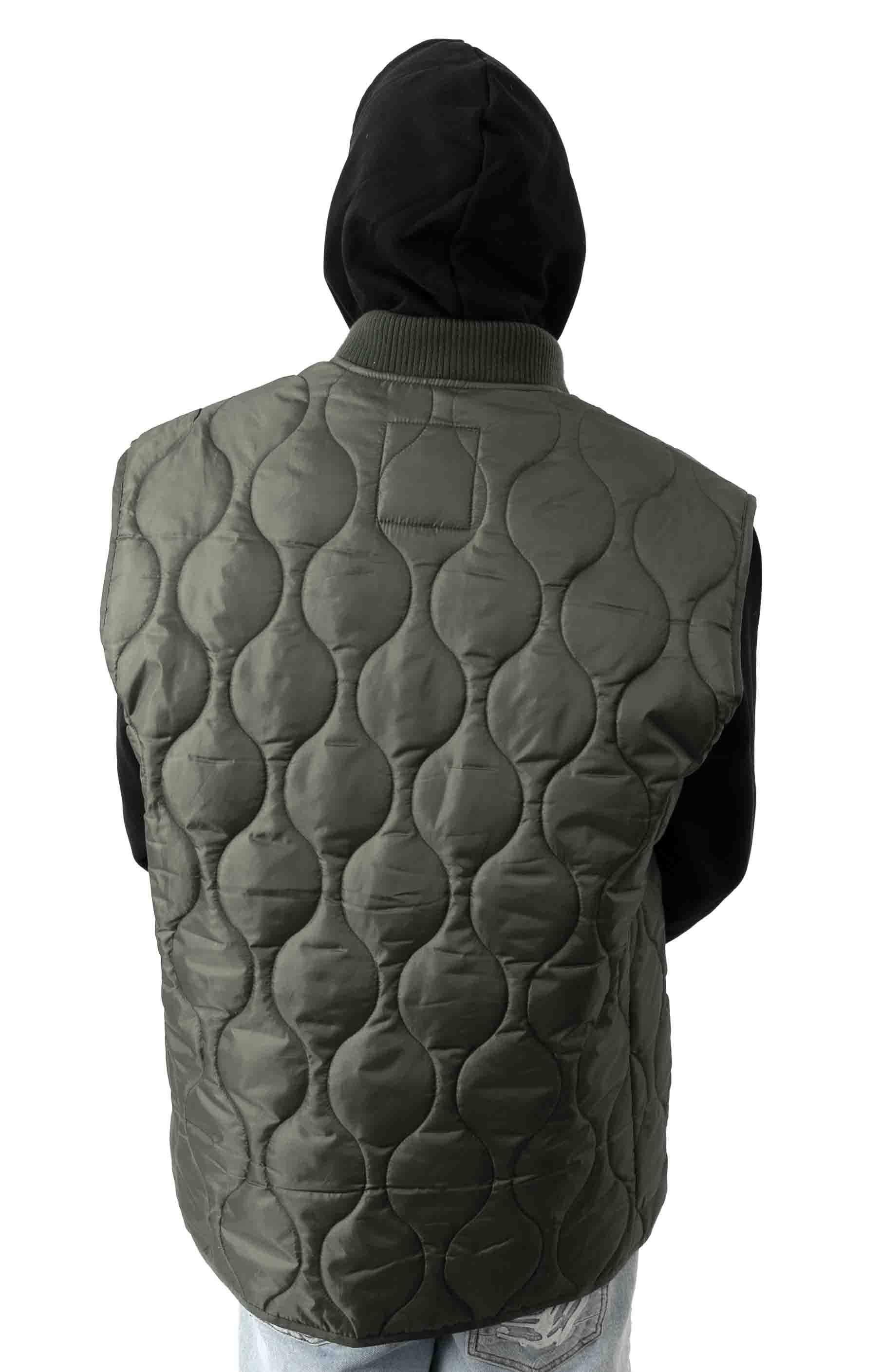 (10431) Quilted Woobie Vest - Olive Drab 3