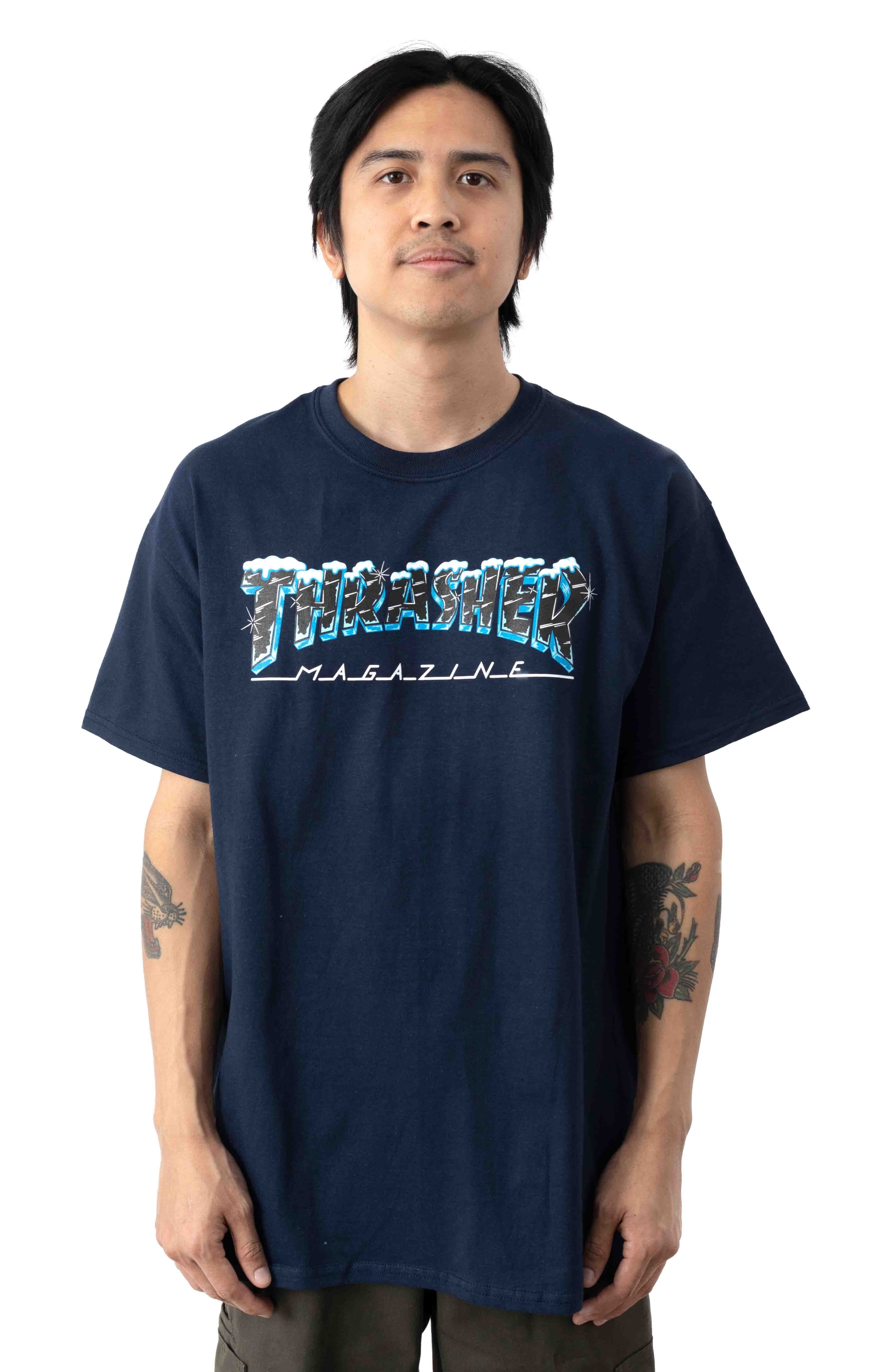 Black Ice T-Shirt - Navy Blue