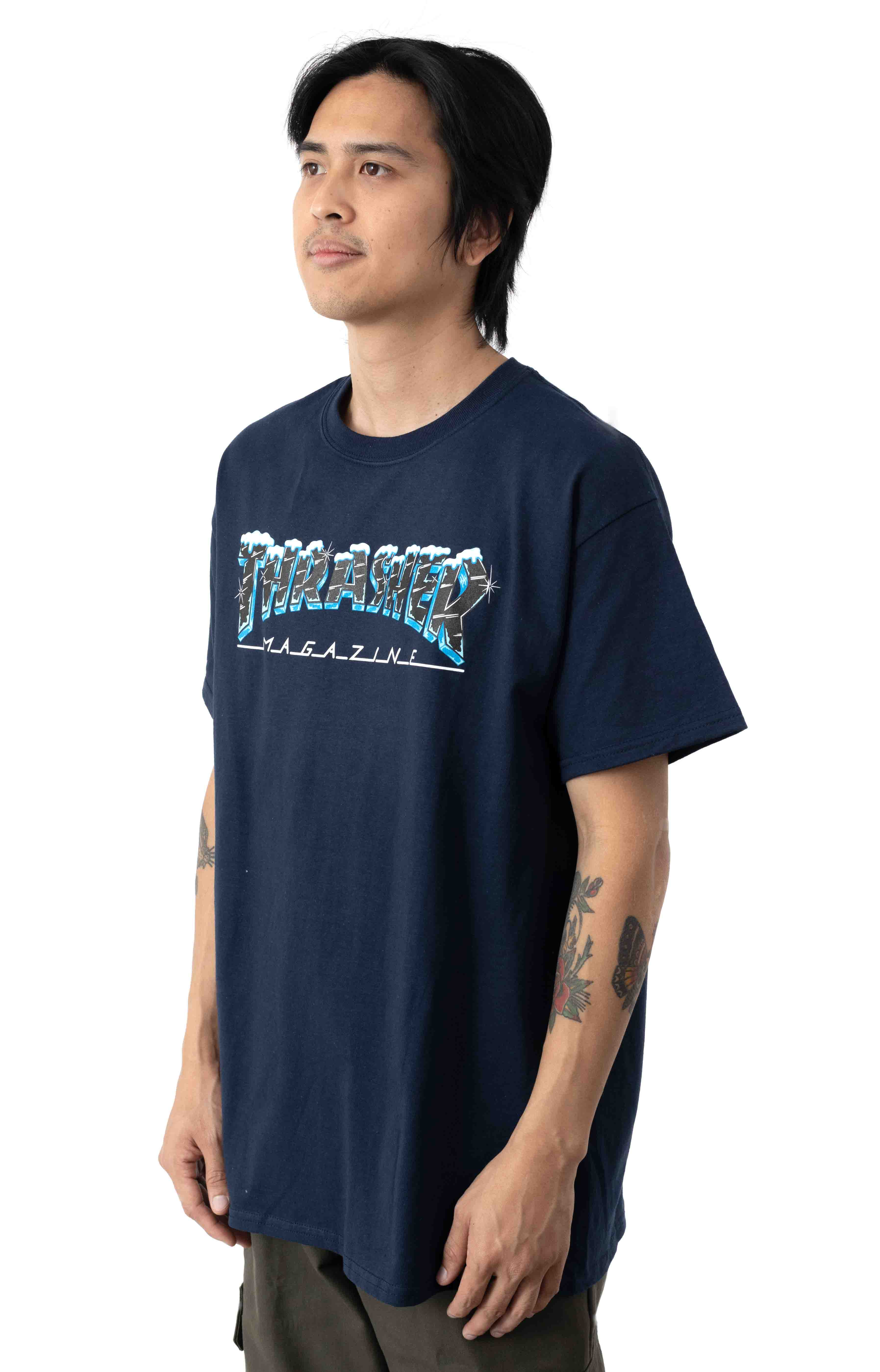 Black Ice T-Shirt - Navy Blue  2