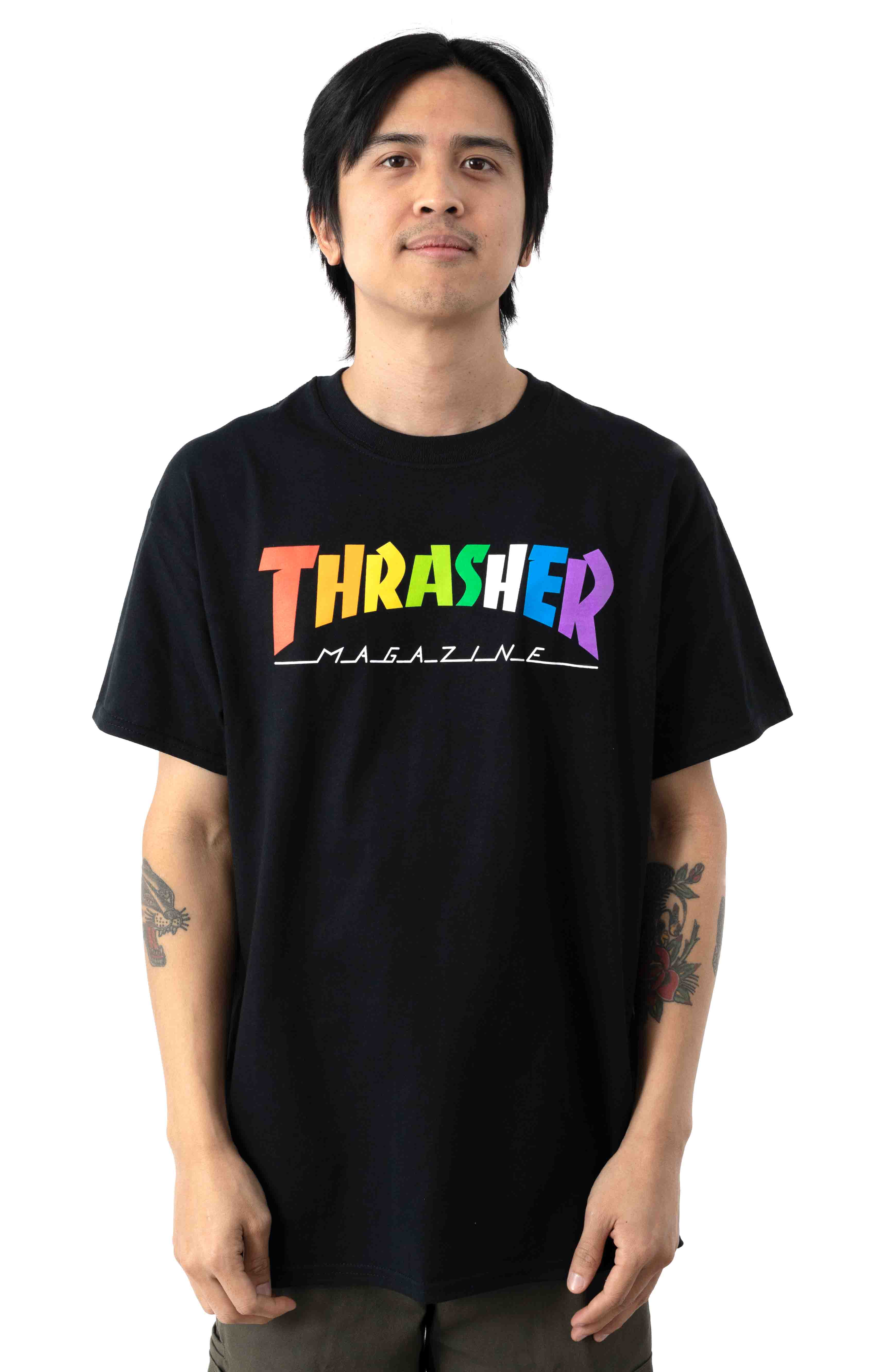 Rainbow Mag T-Shirt - Black