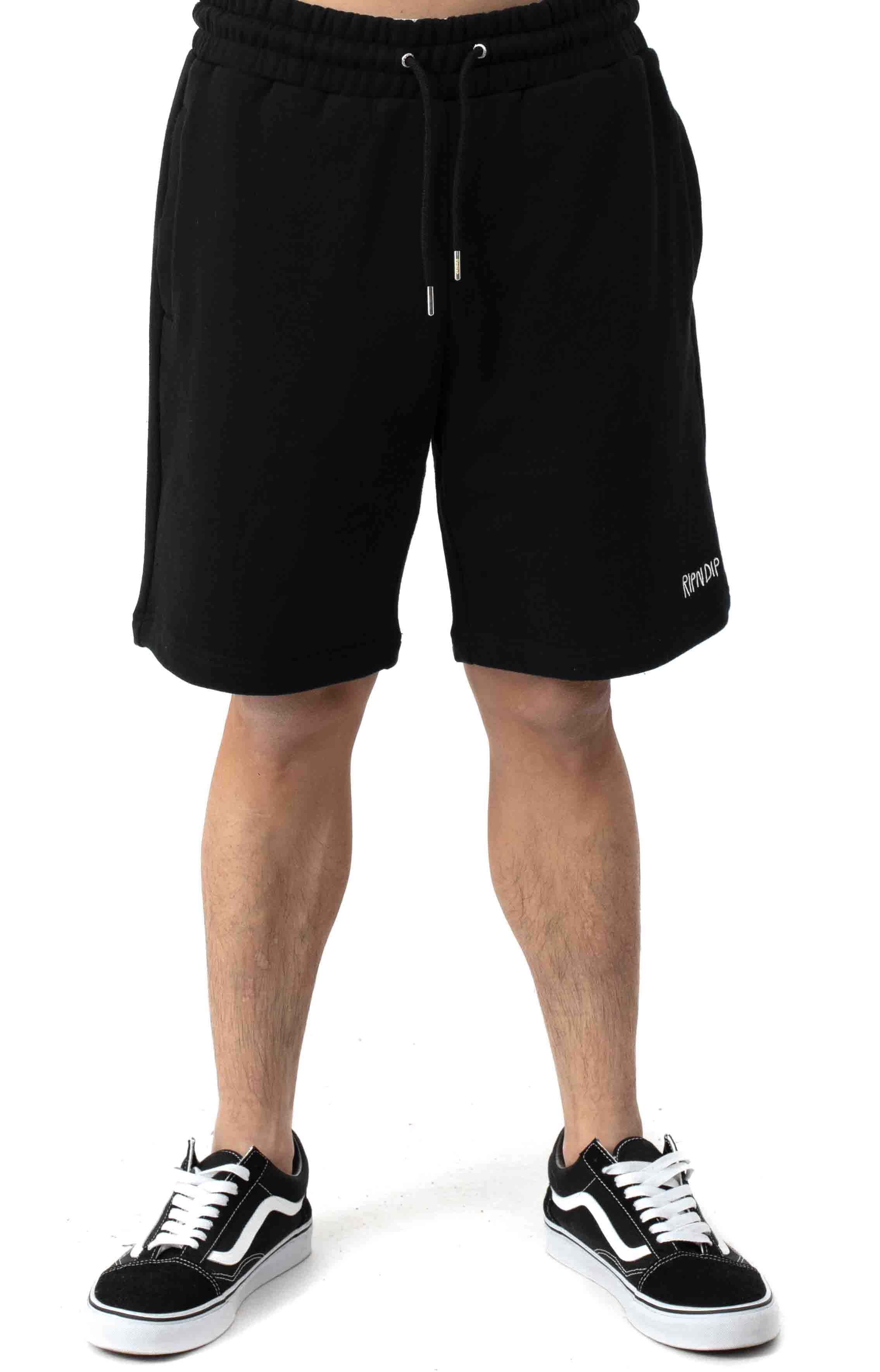 Peeking Nerm Sweat Shorts - Black 2