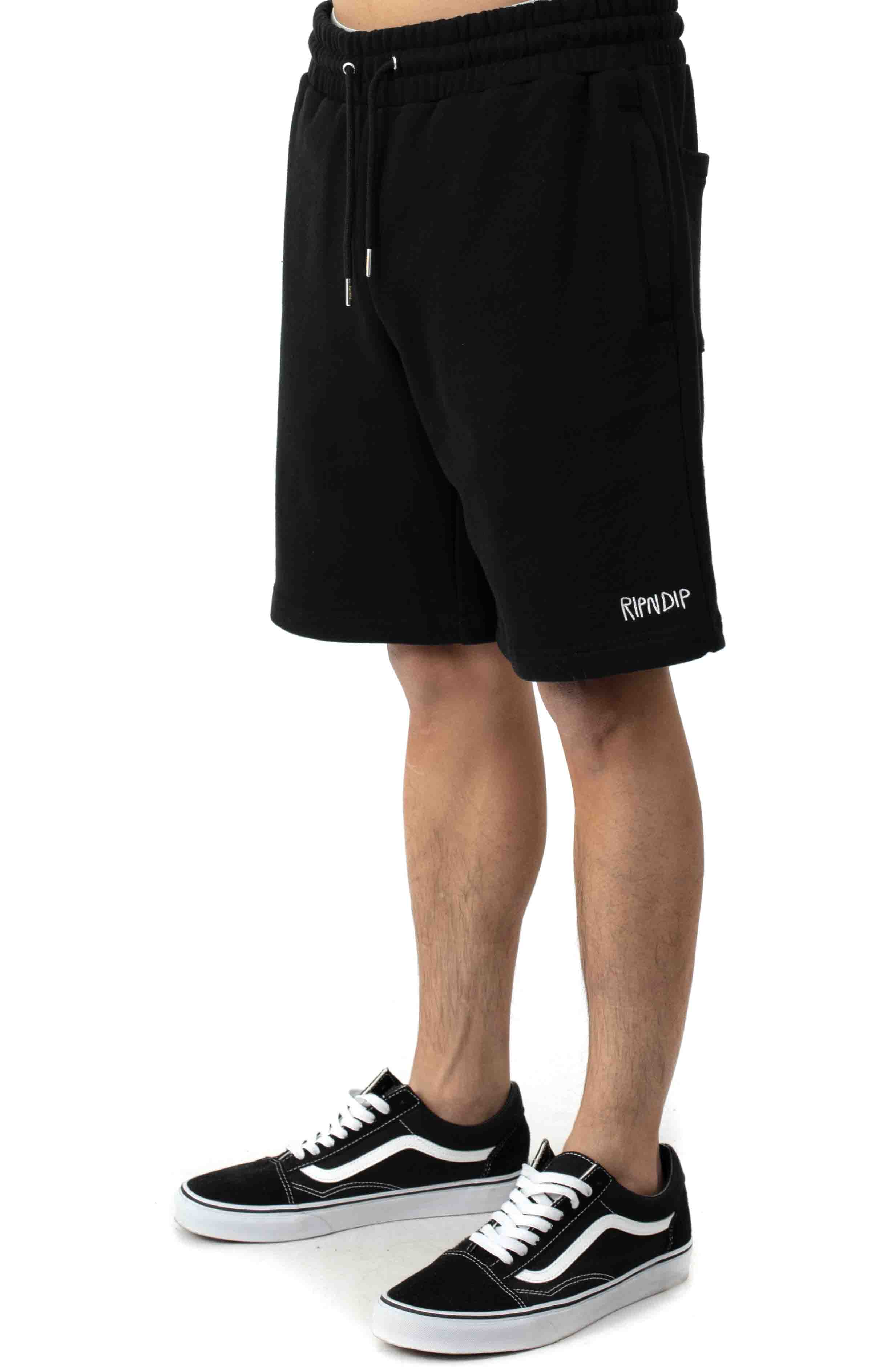Peeking Nerm Sweat Shorts - Black 3