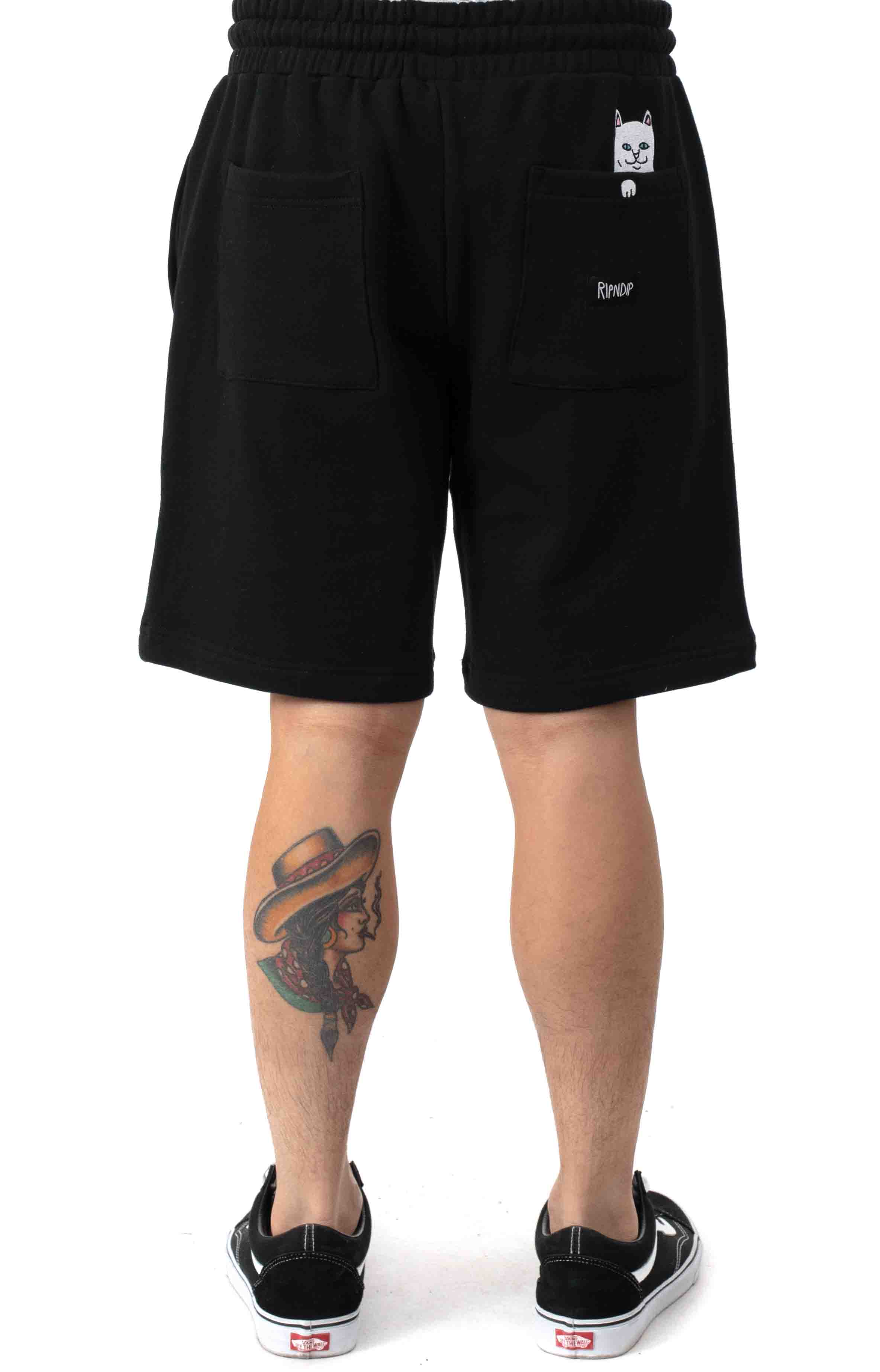 Peeking Nerm Sweat Shorts - Black