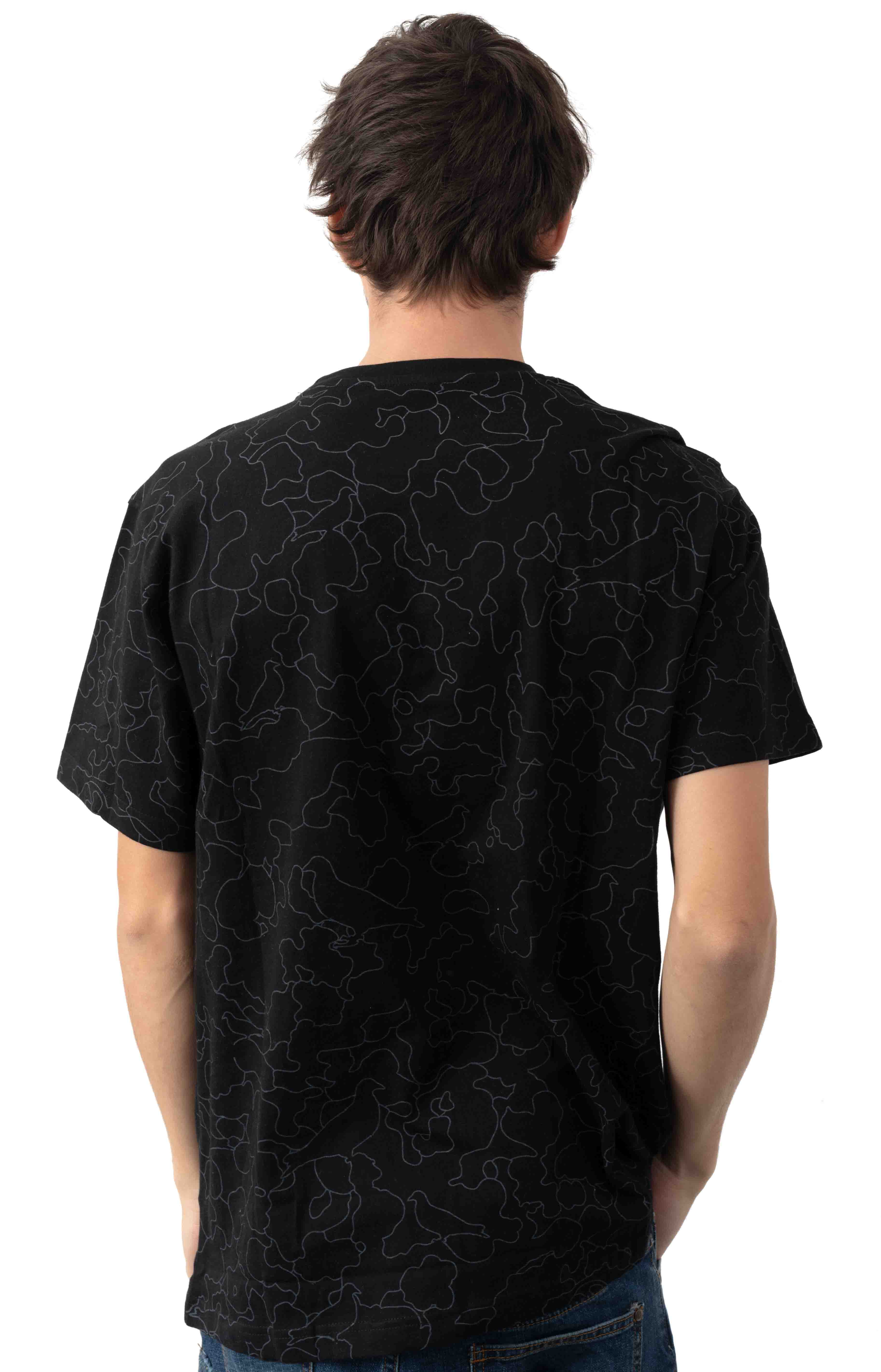Camo Pigeon Pocket T-Shirt - Black 3