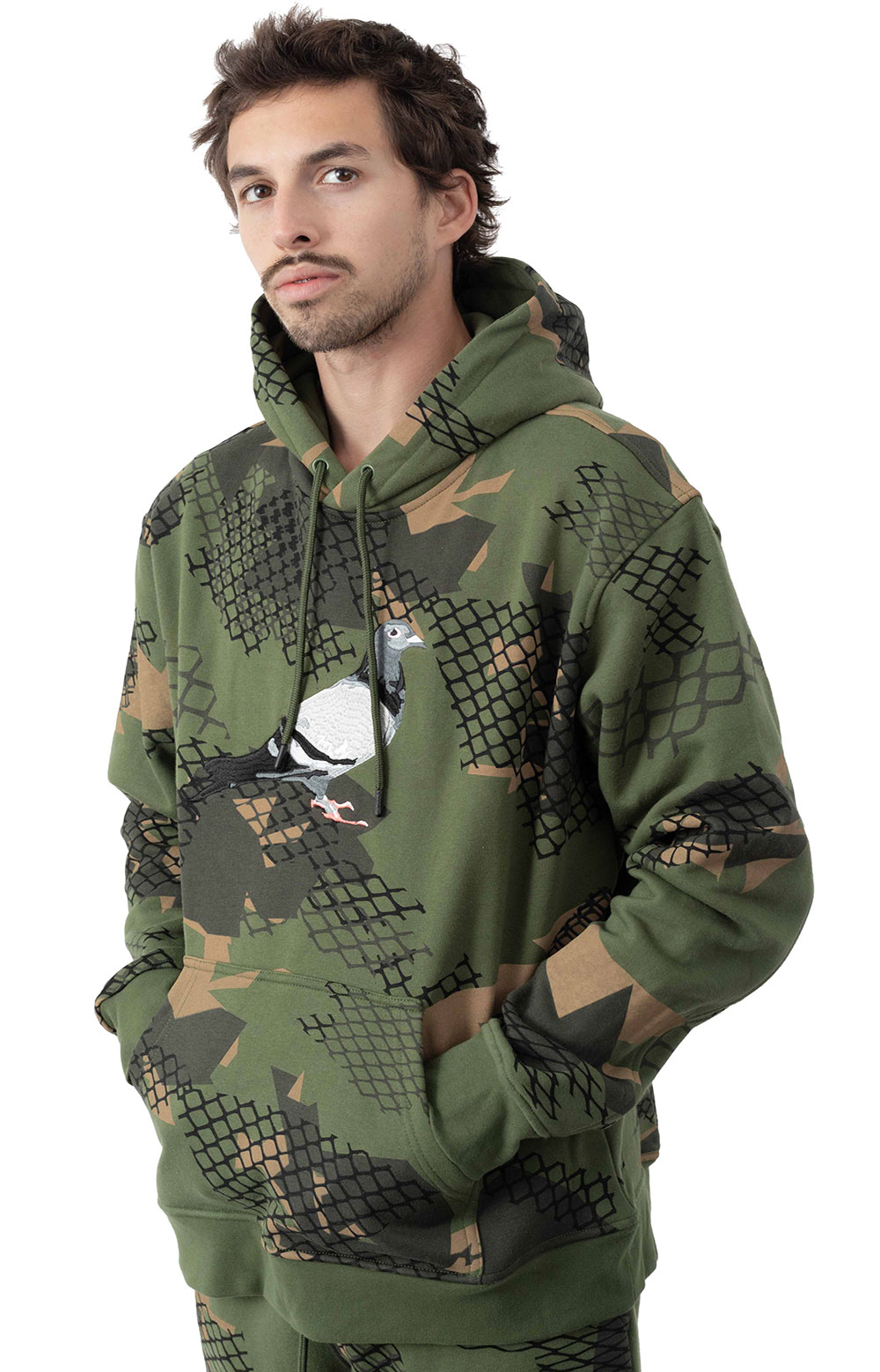 Wire Camo Pigeon Pullover Hoodie  2